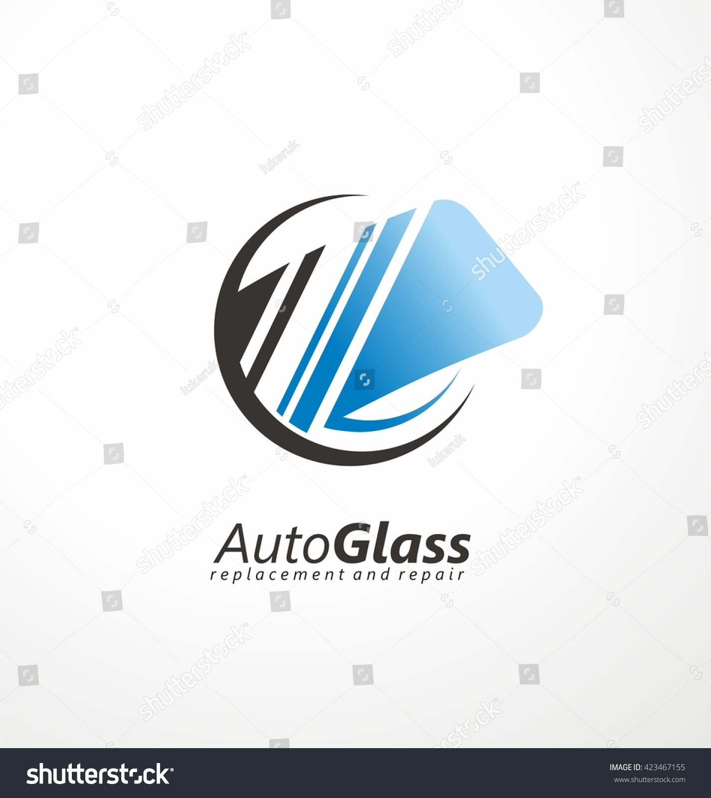 auto glass creative logo design idea windshield vector symbol concept service and repair - Logo Design Idea