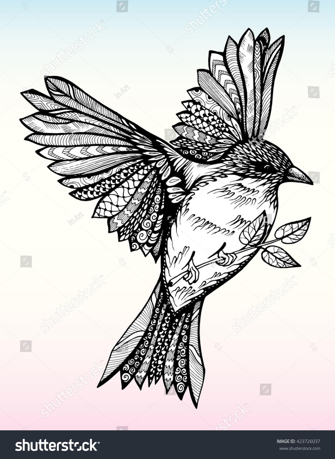 Pin Sparrow Bird Drawing on Pinterest