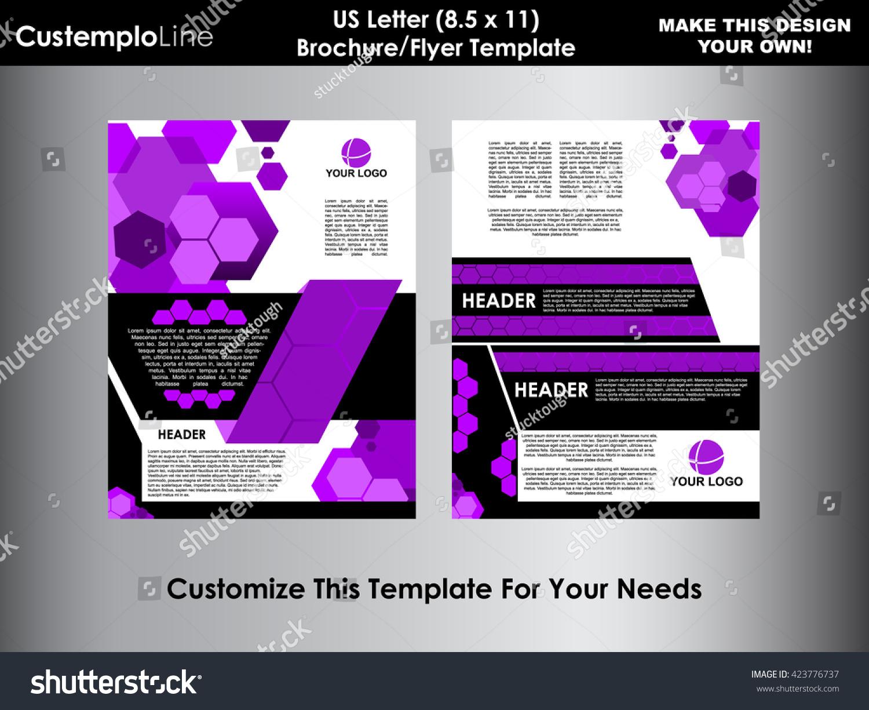 Abstract Hexagonal Brochure Flyer Design Vector Vectores En Stock ...