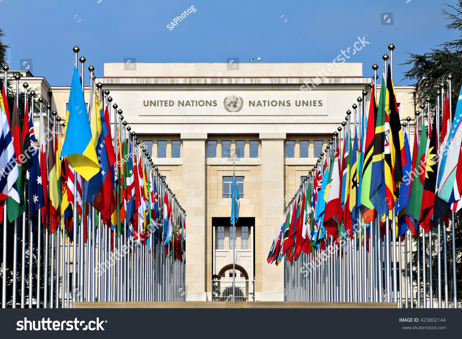 Geneva Switzerland 12 March 2016 Palace Stock Photo ...