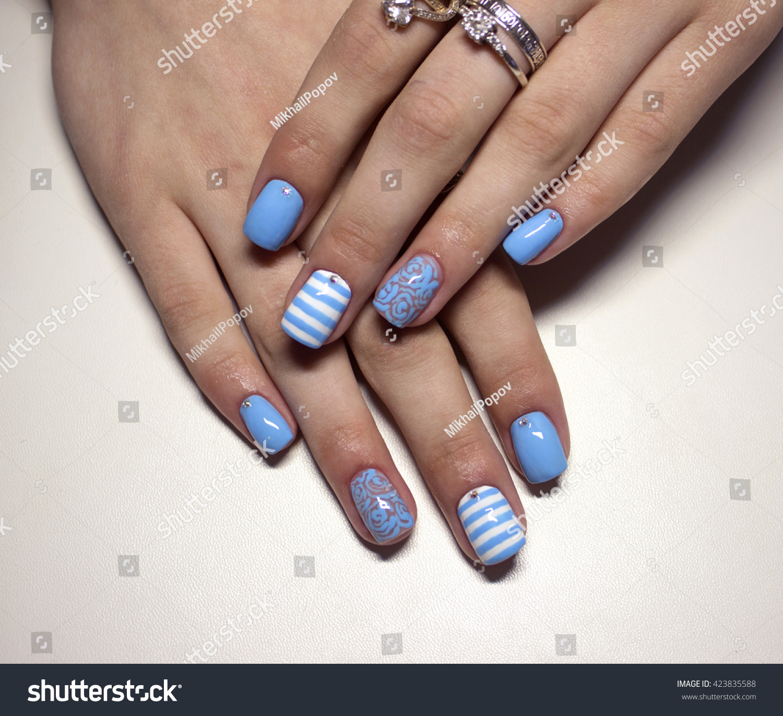 Marine nails design stock photo 423835588 shutterstock marine nails design prinsesfo Images