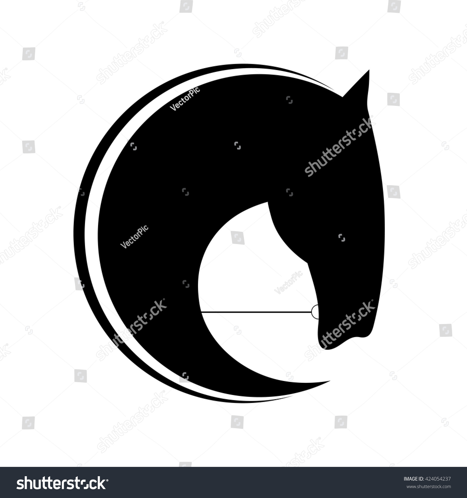 Horse Symbolic Logo Element Vector Stock Vector Royalty Free