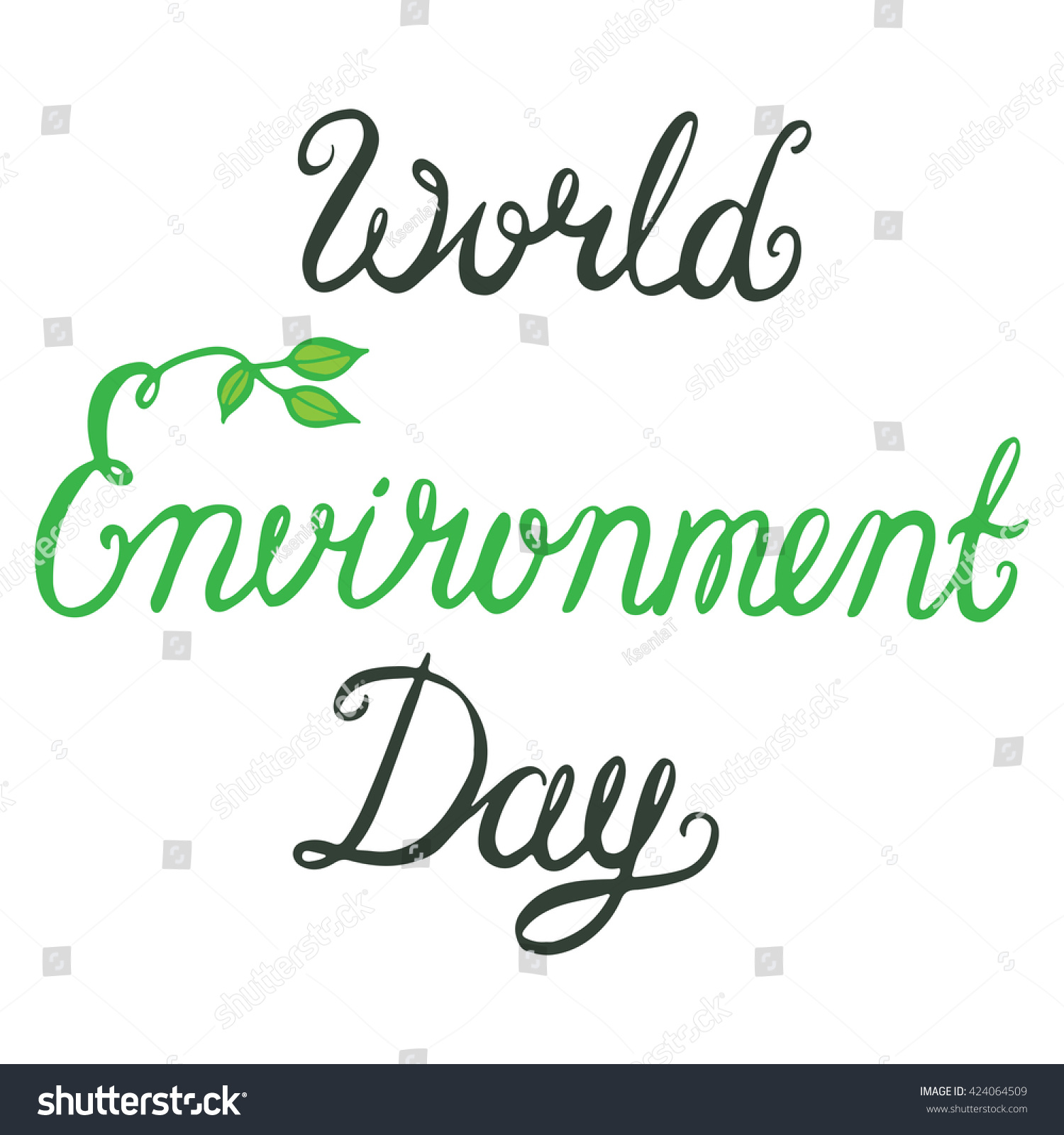 World environment day lettering poster save earth