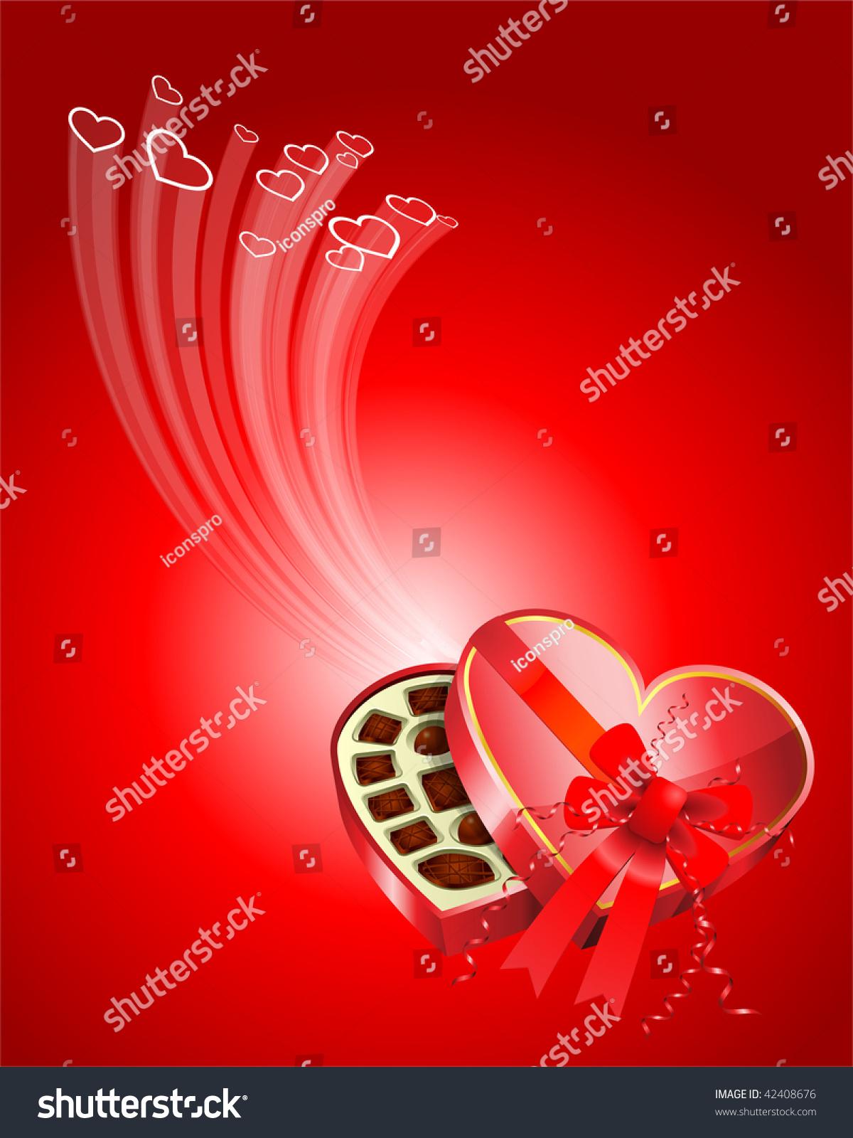 Dark Chocolate Box Valentines Day Design Stock Vector Royalty Free