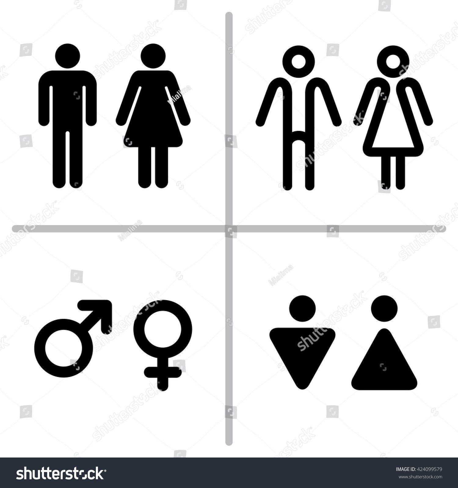 Vector Set Of WC Icons Isolated On A White Background Washroom Icon Restroom Sign