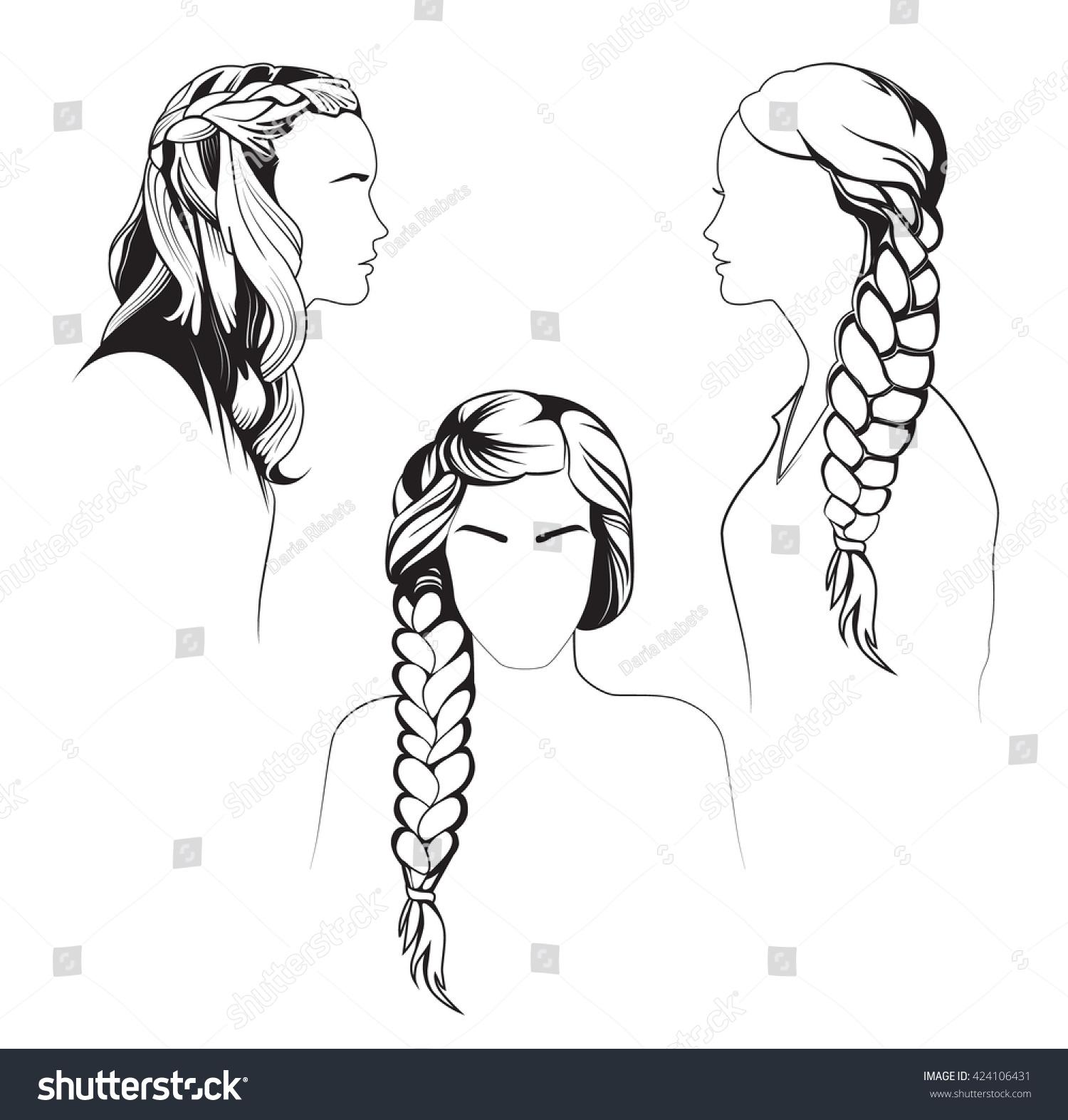 Braid line drawing