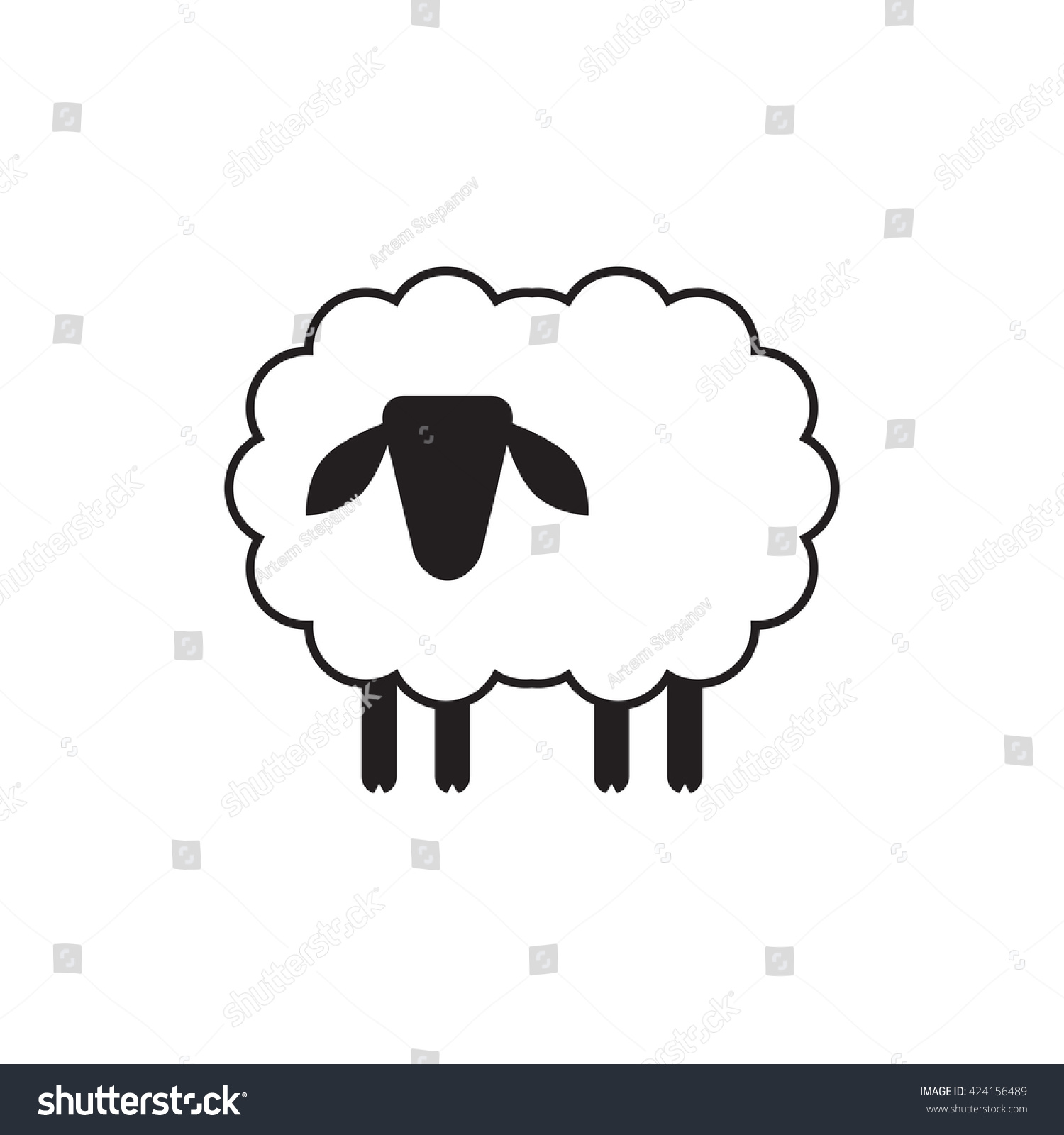 Vector Sheep Ram Icon Logo Template Stock Vector HD (Royalty Free ...