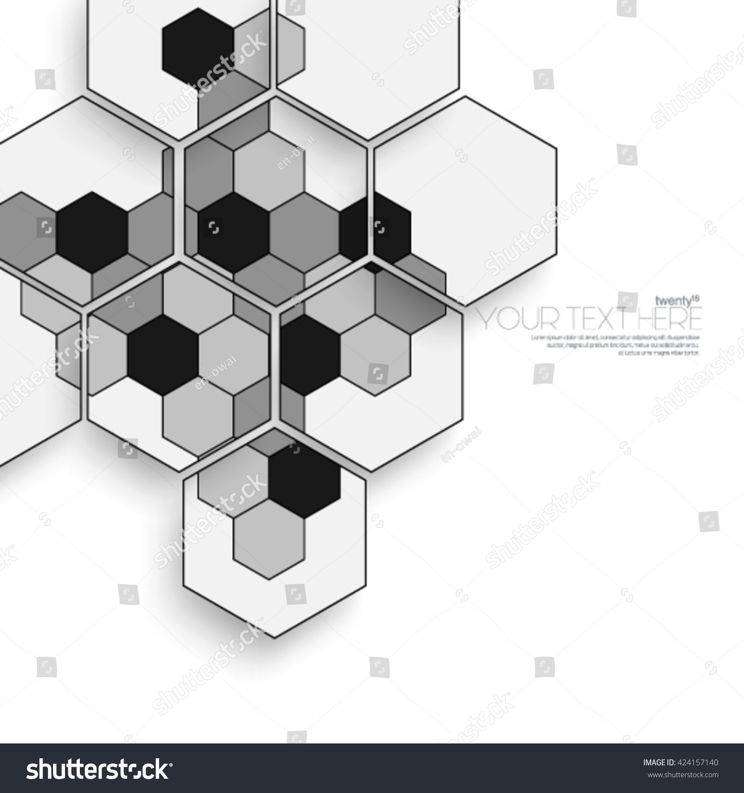 Geometric Hexagonal Layout Design Cover Background Stock Vector ...