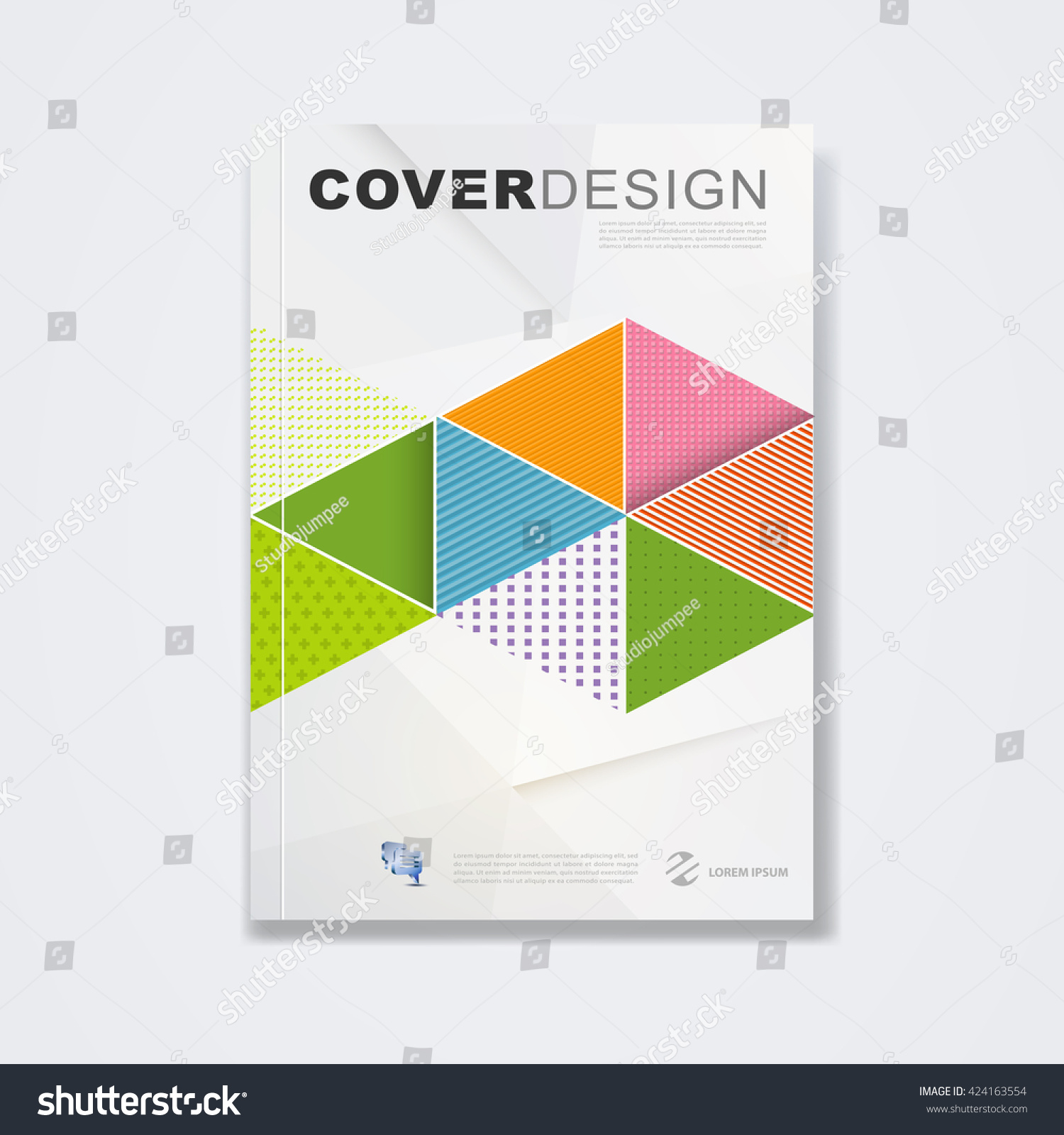 Cover Template Brochure Layout Book Cover Stock Photo (Photo, Vector ...