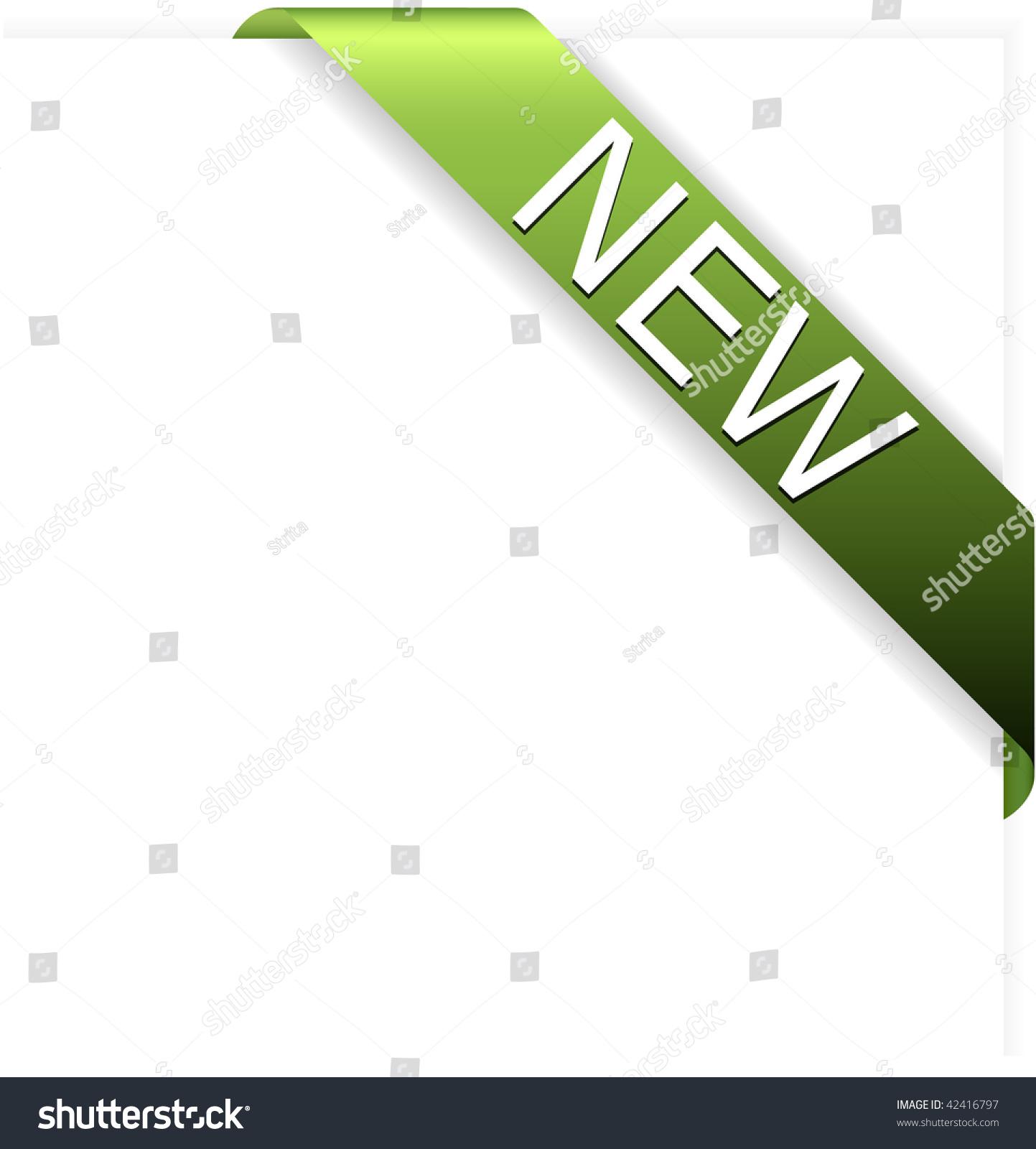 Yellow Green New Corner Ribbon Stock Vector Illustration ...
