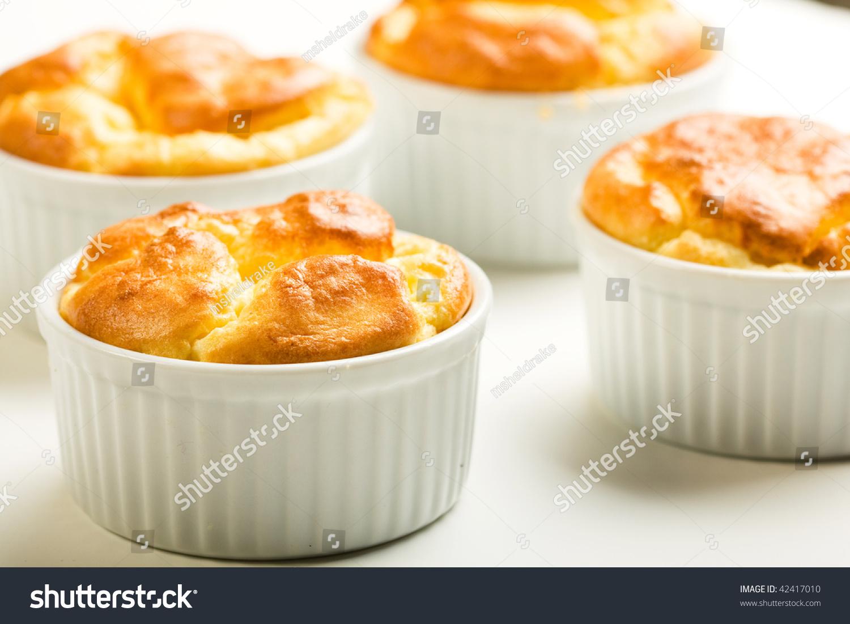 Parmesan Gruyere Cheese Souffle Stock Photo 42417010 ...