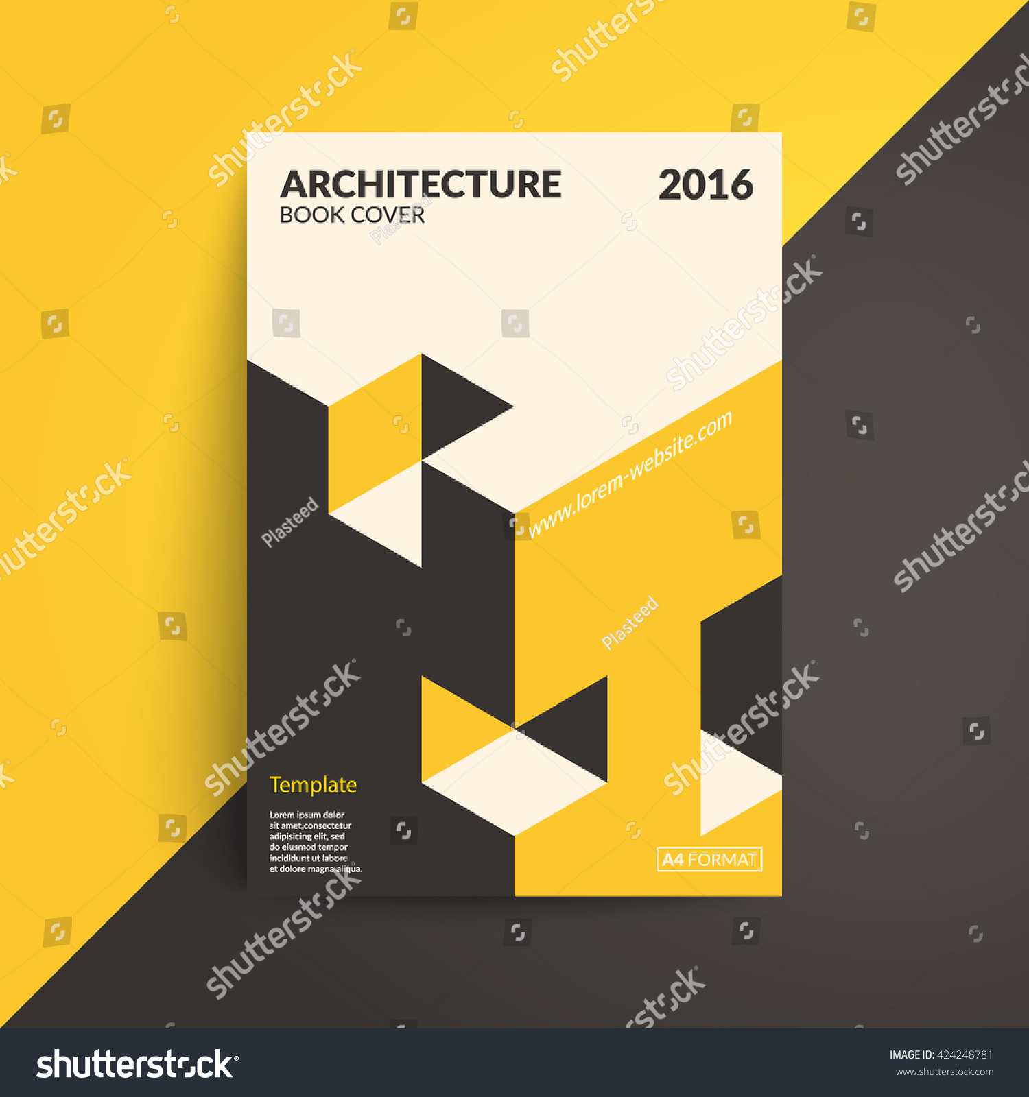 Minimalist Book Cover Template : Isometric cover design architecture book a stock vector