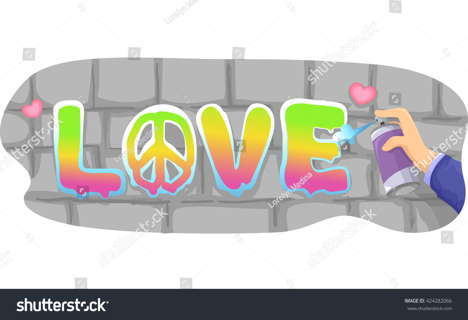 Illustration man spray painting word love stock vector 424282066 illustration of a man spray painting the word love ccuart Image collections
