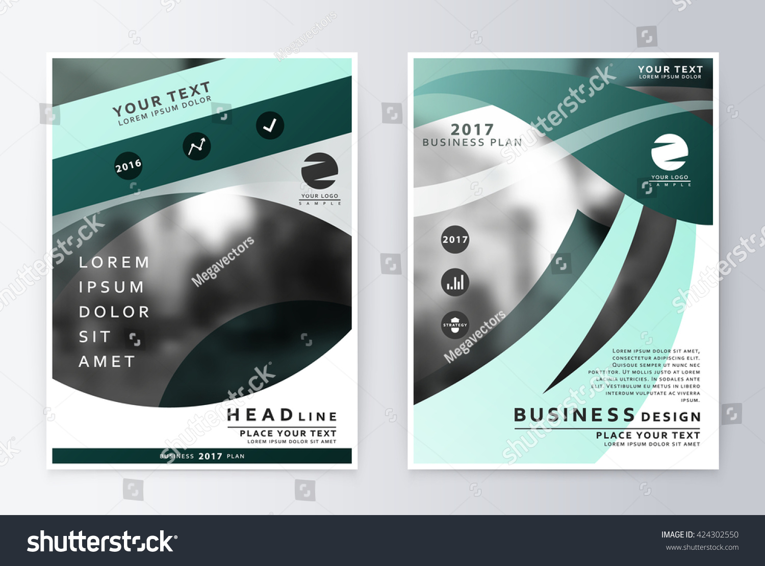 Annual report brochure business plan flyer stock vector royalty business plan flyer design template business paper modern business template friedricerecipe Gallery