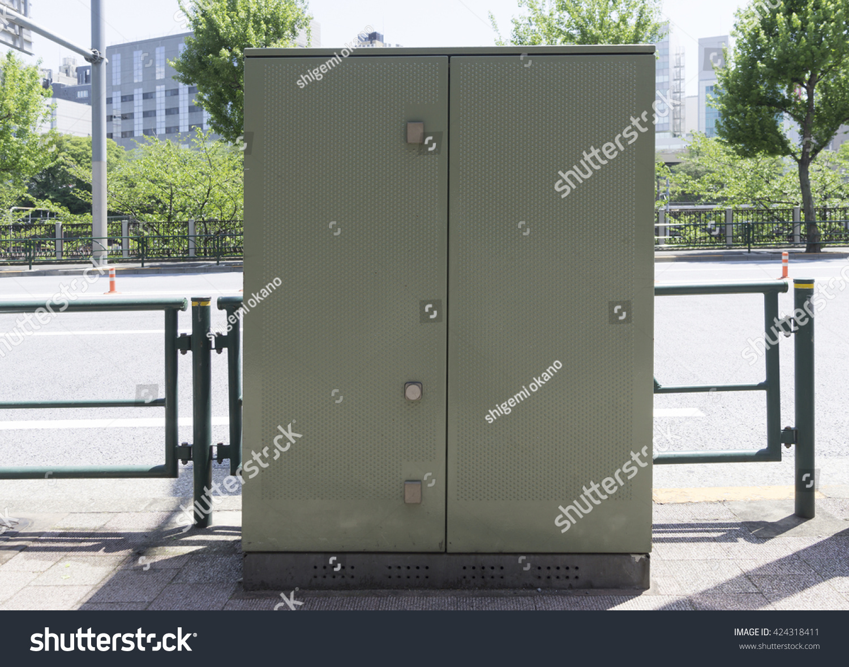Infrastructure Town Wire Underground Substation Box Stock Photo ...