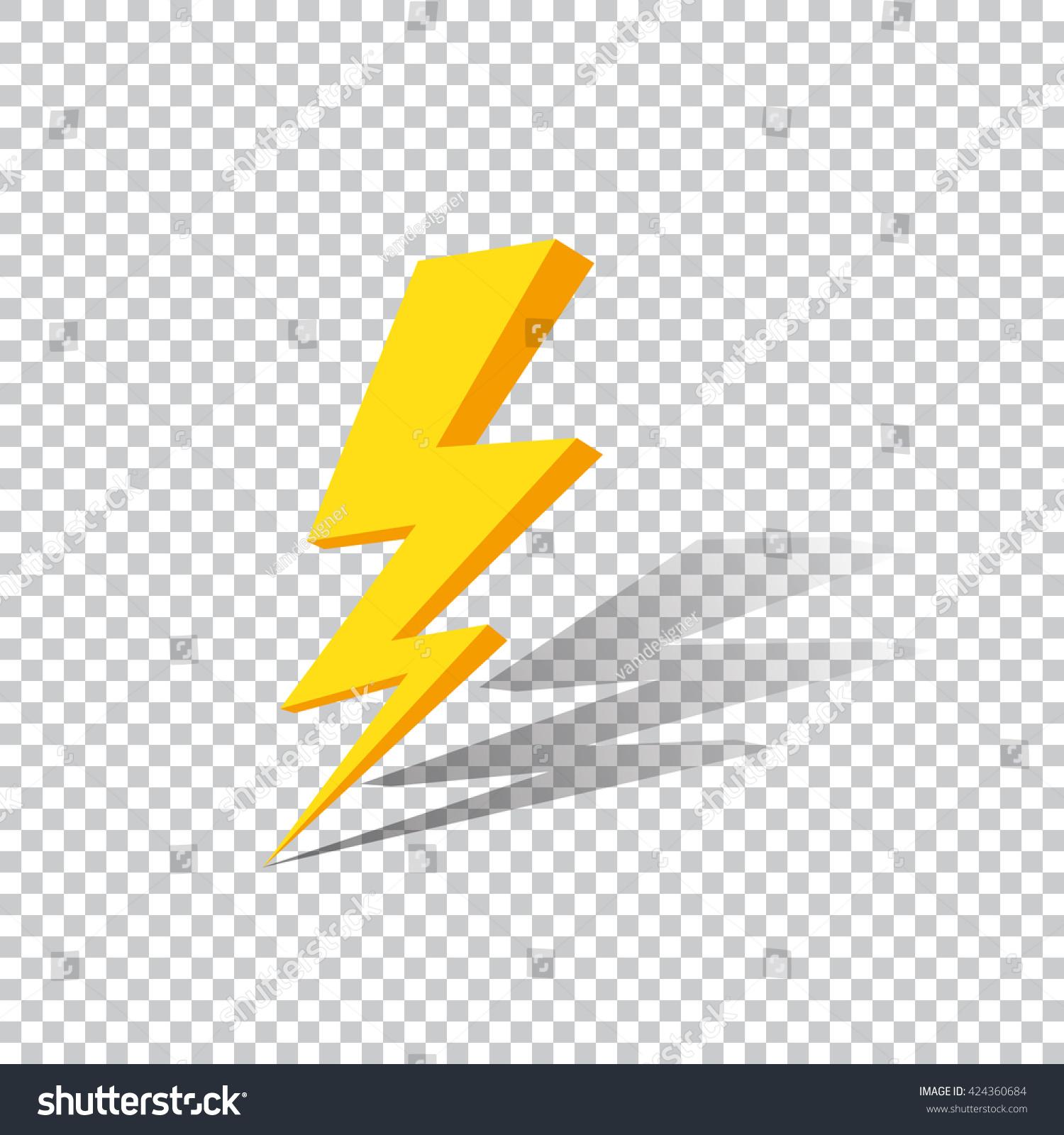 Lightning On A Transparent Background