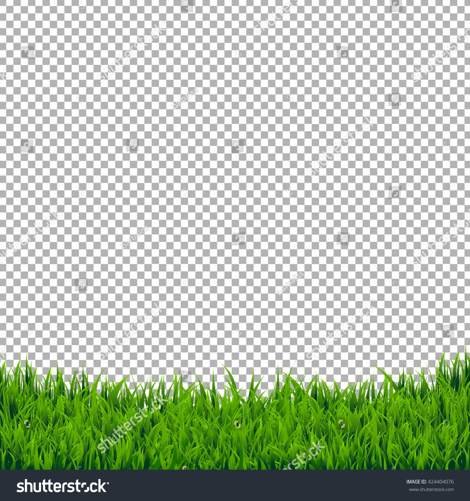 Green Grass Border Isolated Isolated On Stock Vector 424404076 ...