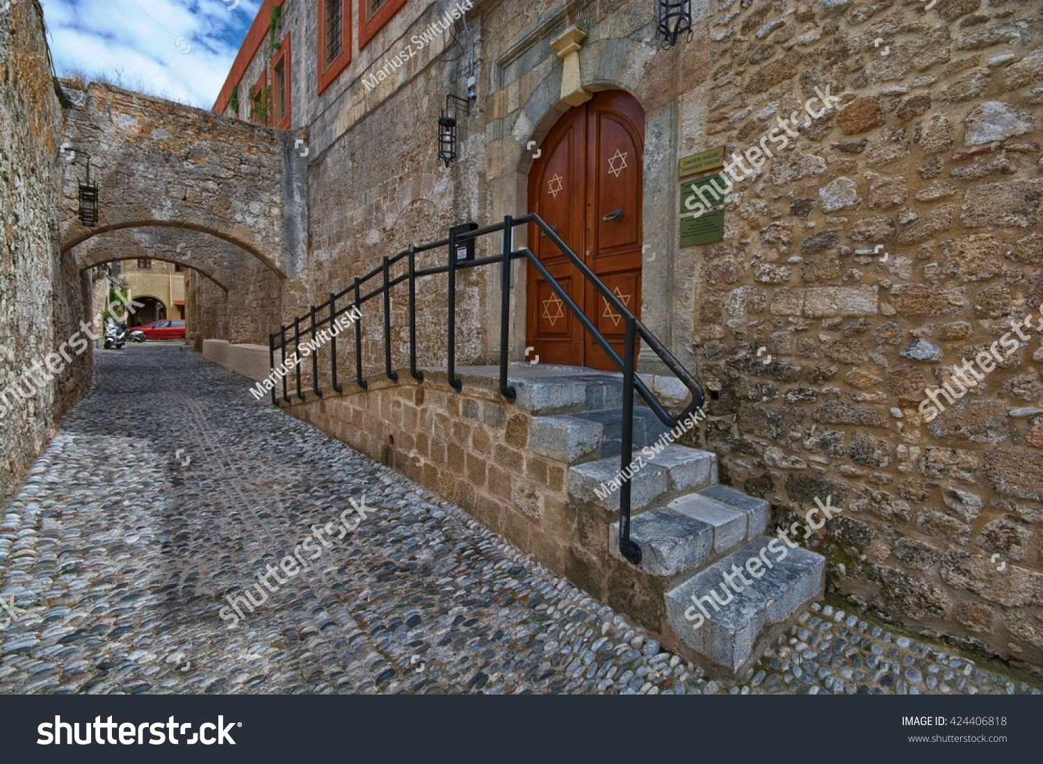 Rhodes Greece May 08 Entrance Kahal Stock Photo 424406818 - Shutterstock