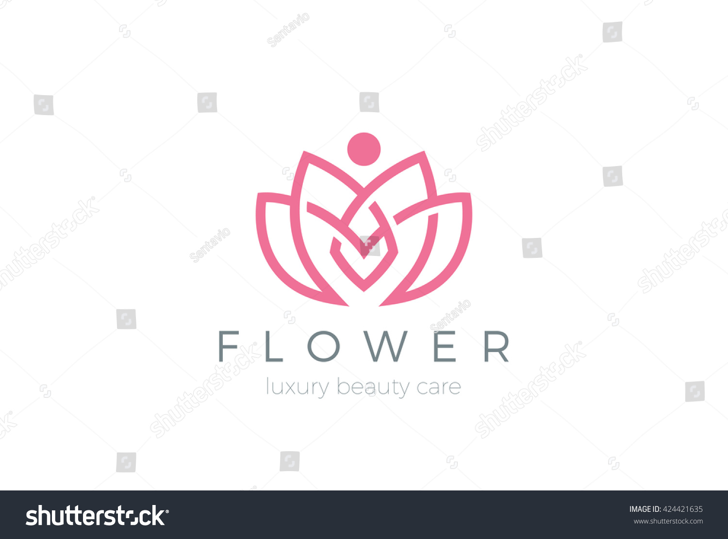 Lotus flower logo abstract beauty spa for Abstract beauty salon