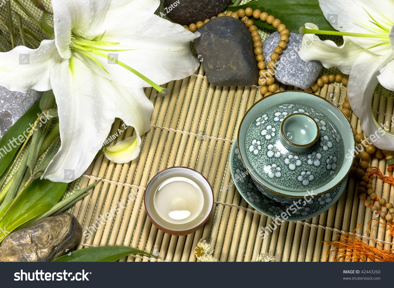 Oriental Traditional Tea Ceremony Still Life Stock Photo Edit Now