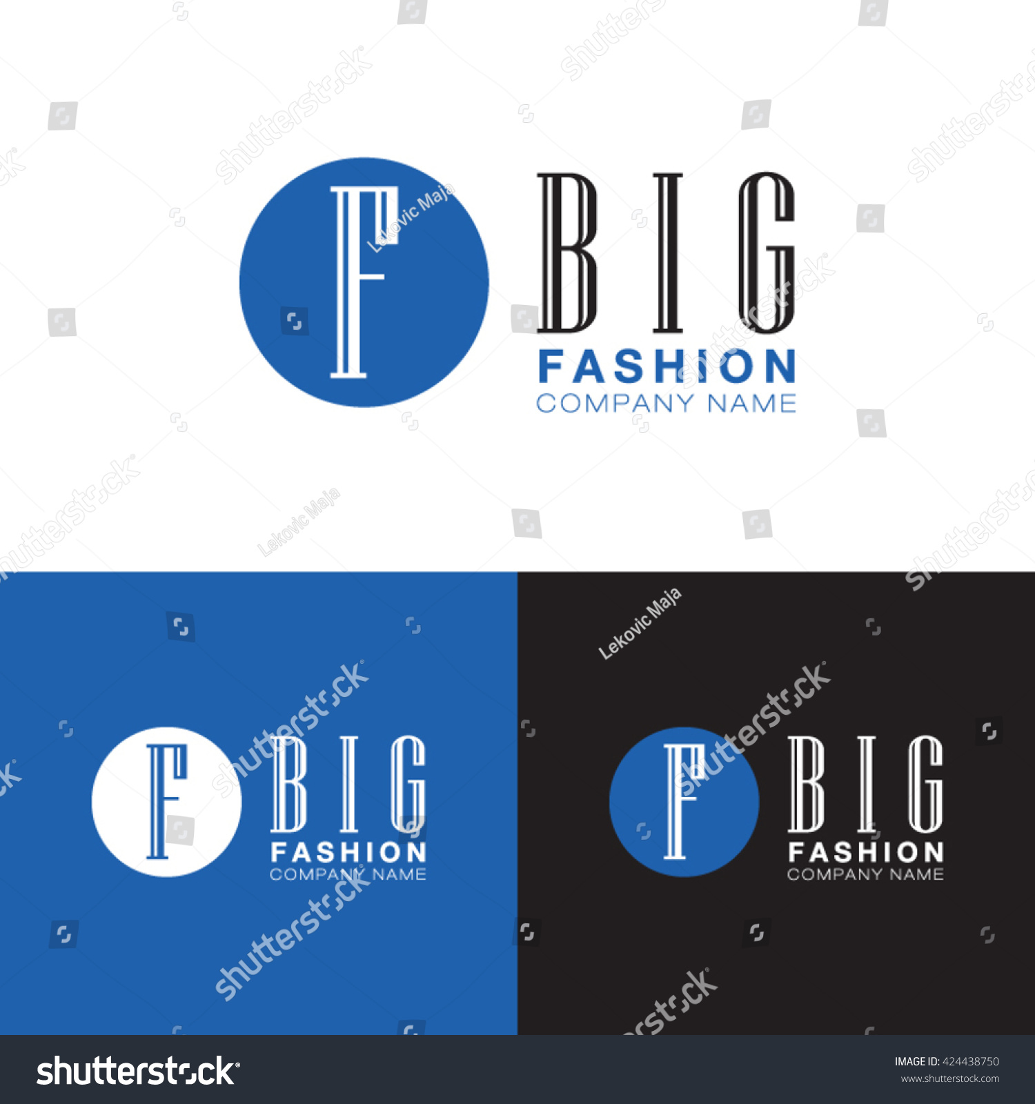 Big fashion company name logo modern stock vector 424438750 big fashion company name logo with modern symbol of letter f buycottarizona