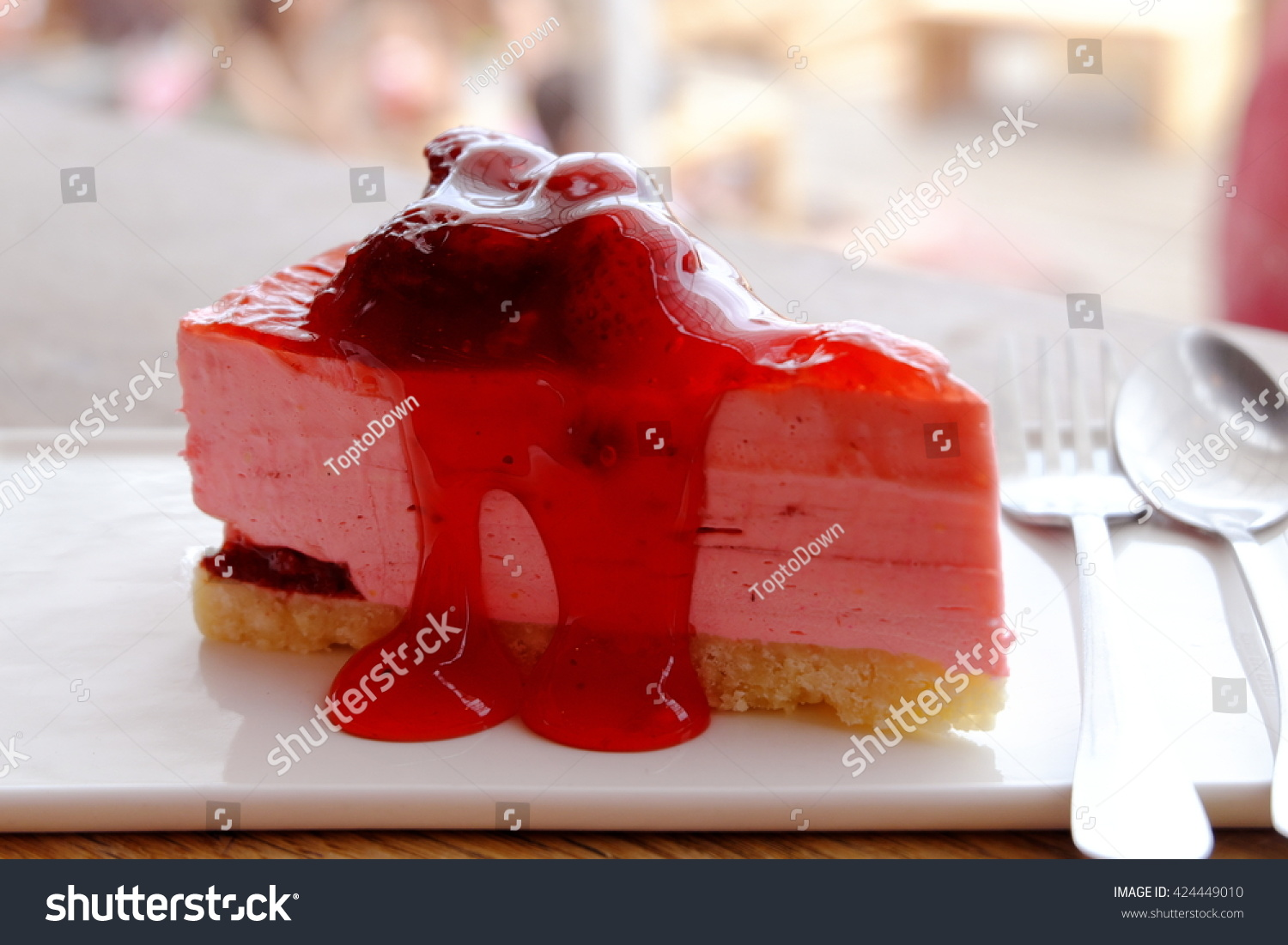 Beautiful Strawberry Cake Images : Beautiful Strawberry Cheese Cake Stock Photo 424449010 ...