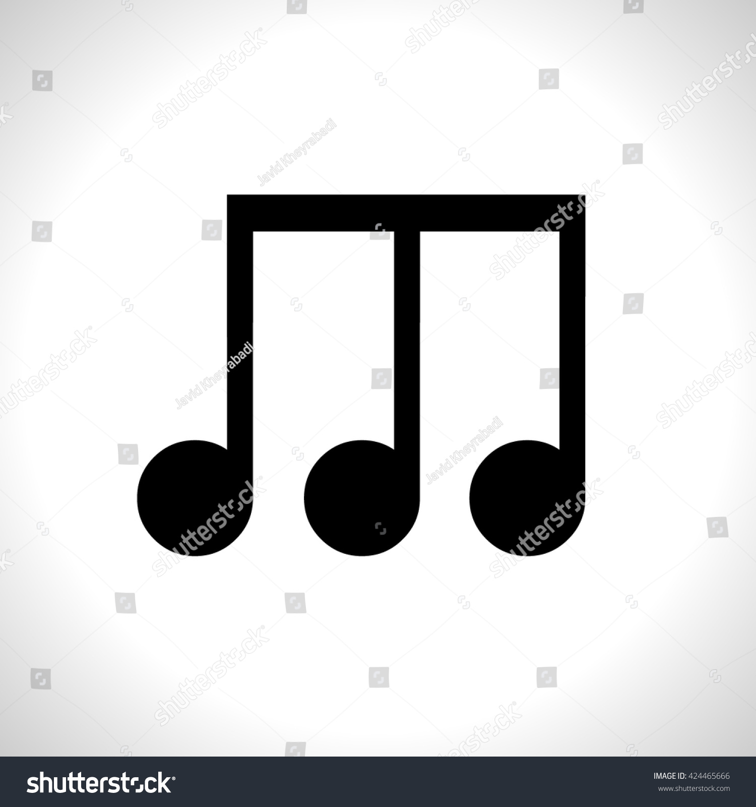 notes icon notes sign stock vector 424465666 shutterstock rh shutterstock com Music Note Clip Art Music Notes