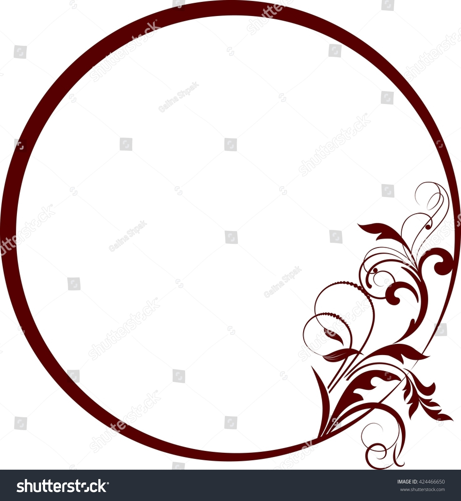 Round frame with decorative branch vector illustration stock - Round Frame With Decorative Branch Vector Illustration Preview Save To A Lightbox