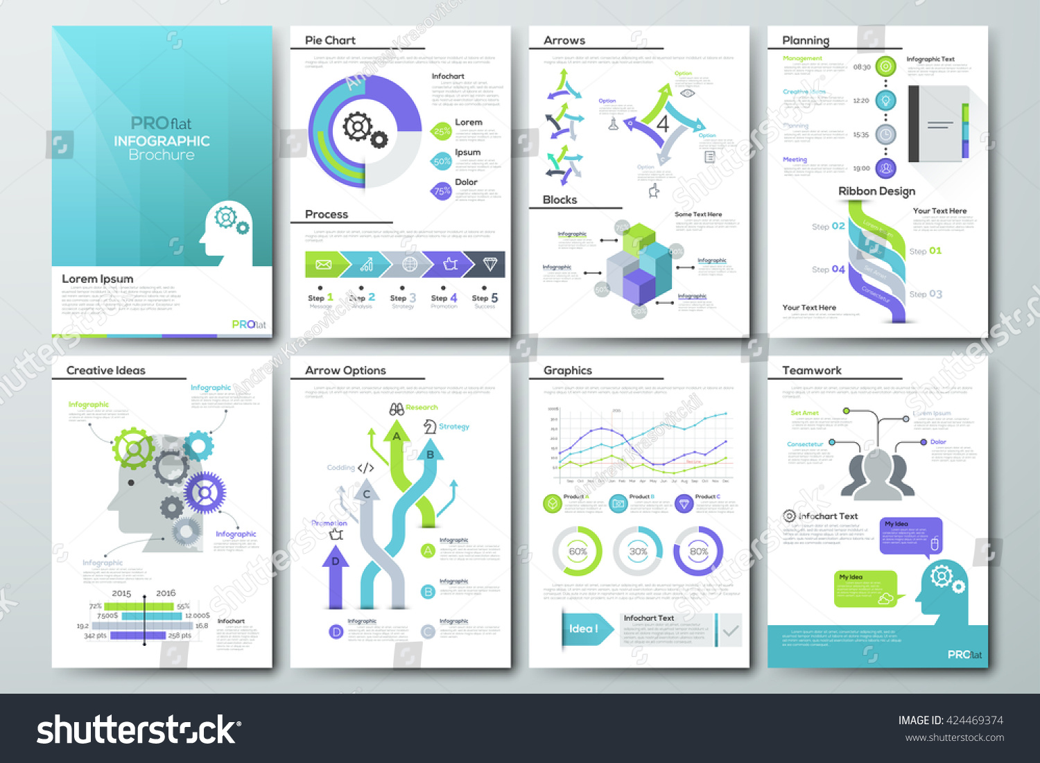 Data Visualization Brochures Infographic Business Templates Stock ...
