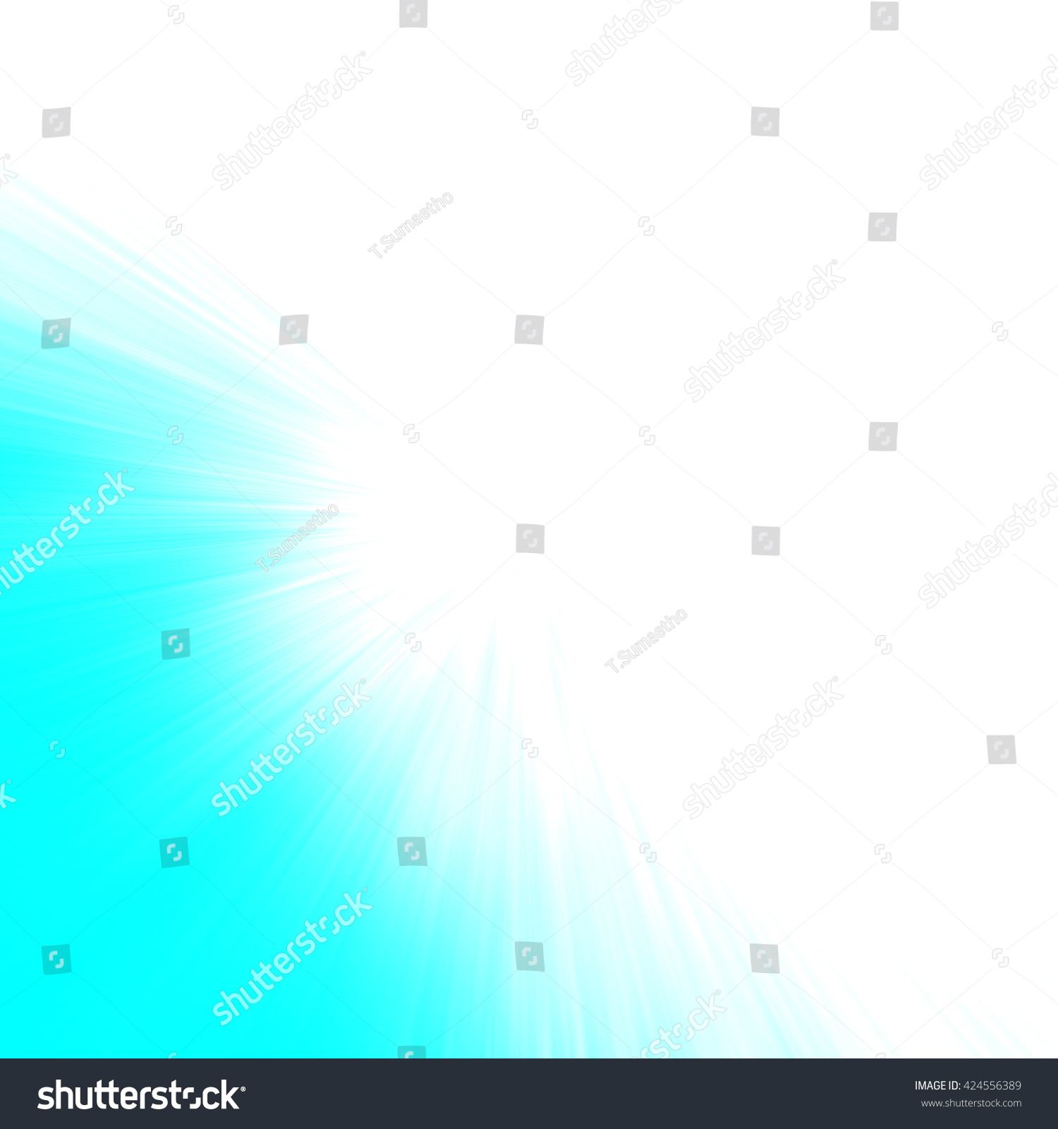 Blue Abstract Zoom Motion Background Stock Illustration