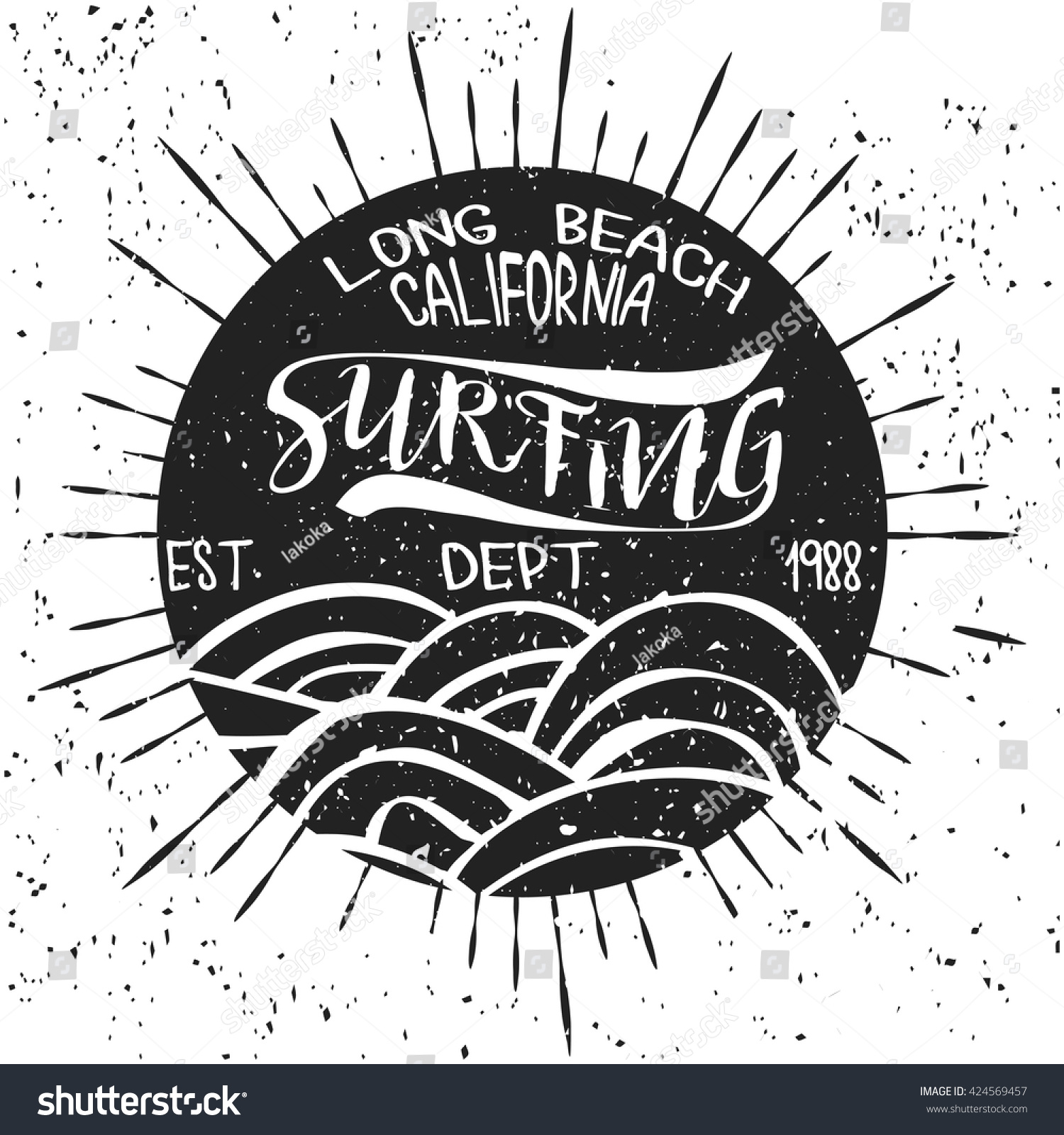 Design t shirts graphic - Surfing California T Shirt Graphic Print Design Surf Shirt Print Stamp California Surfers