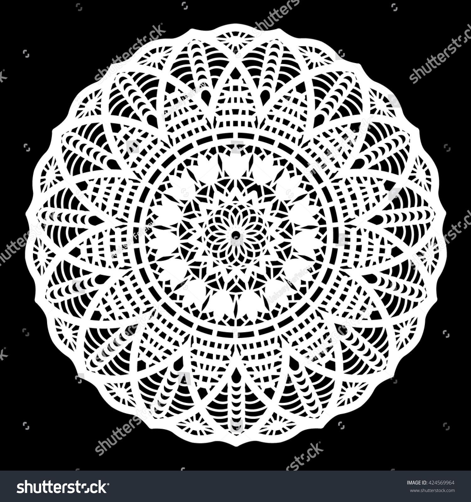 Lace Round Doily Paper Snowflake Greeting Element Package