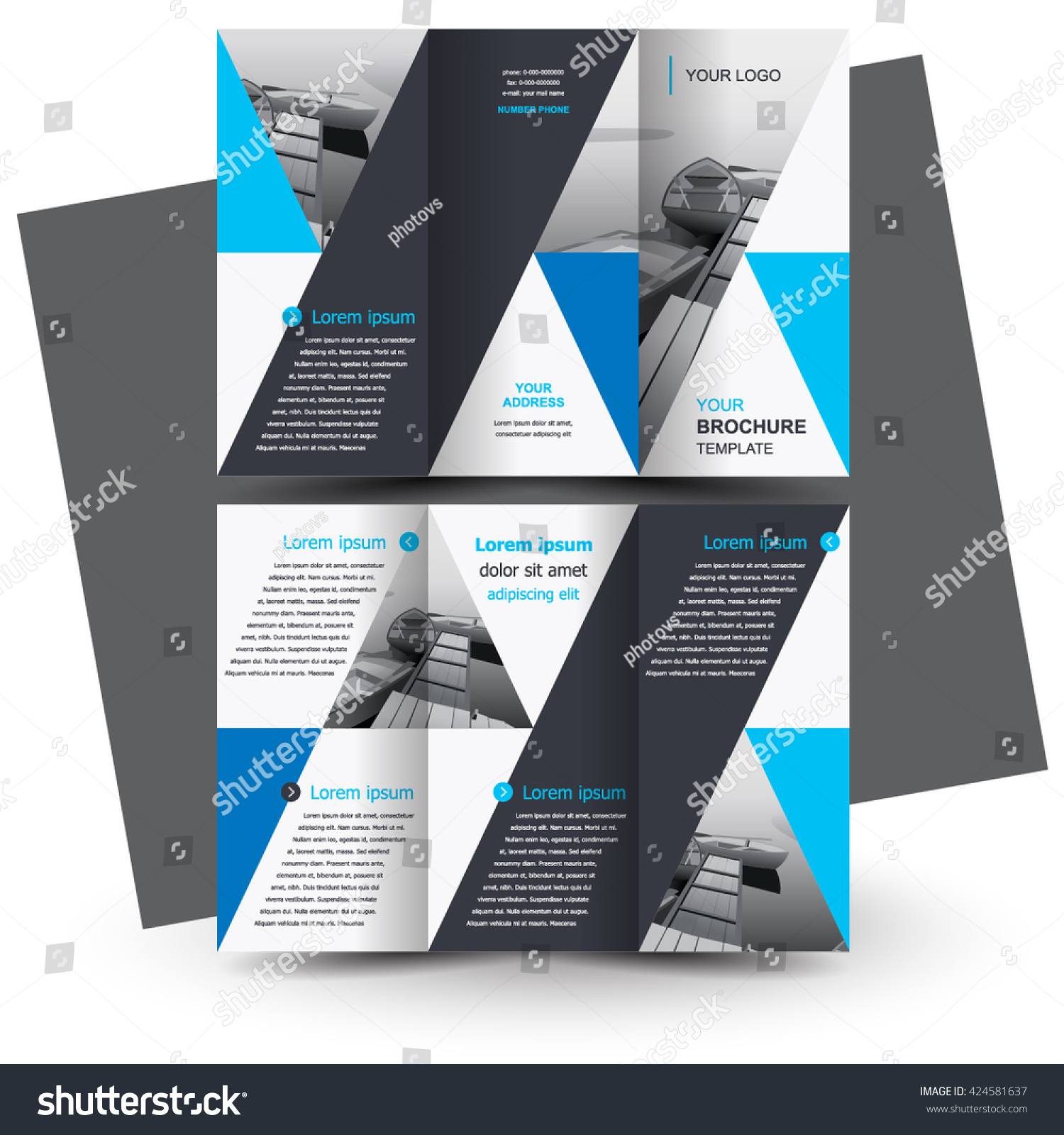 Creative Brochure Design Templates: Brochure Design Business Brochure Template Creative Stock