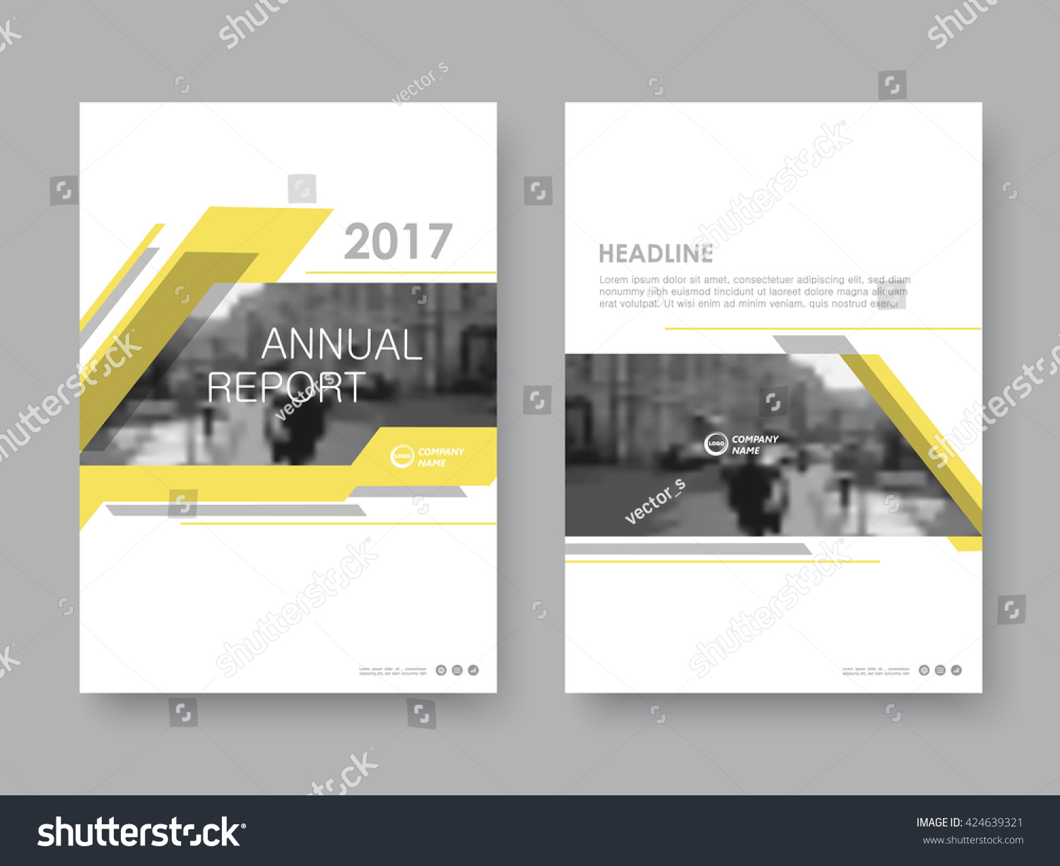 annual report flyer presentation brochure front stock vector 424639321 shutterstock. Black Bedroom Furniture Sets. Home Design Ideas