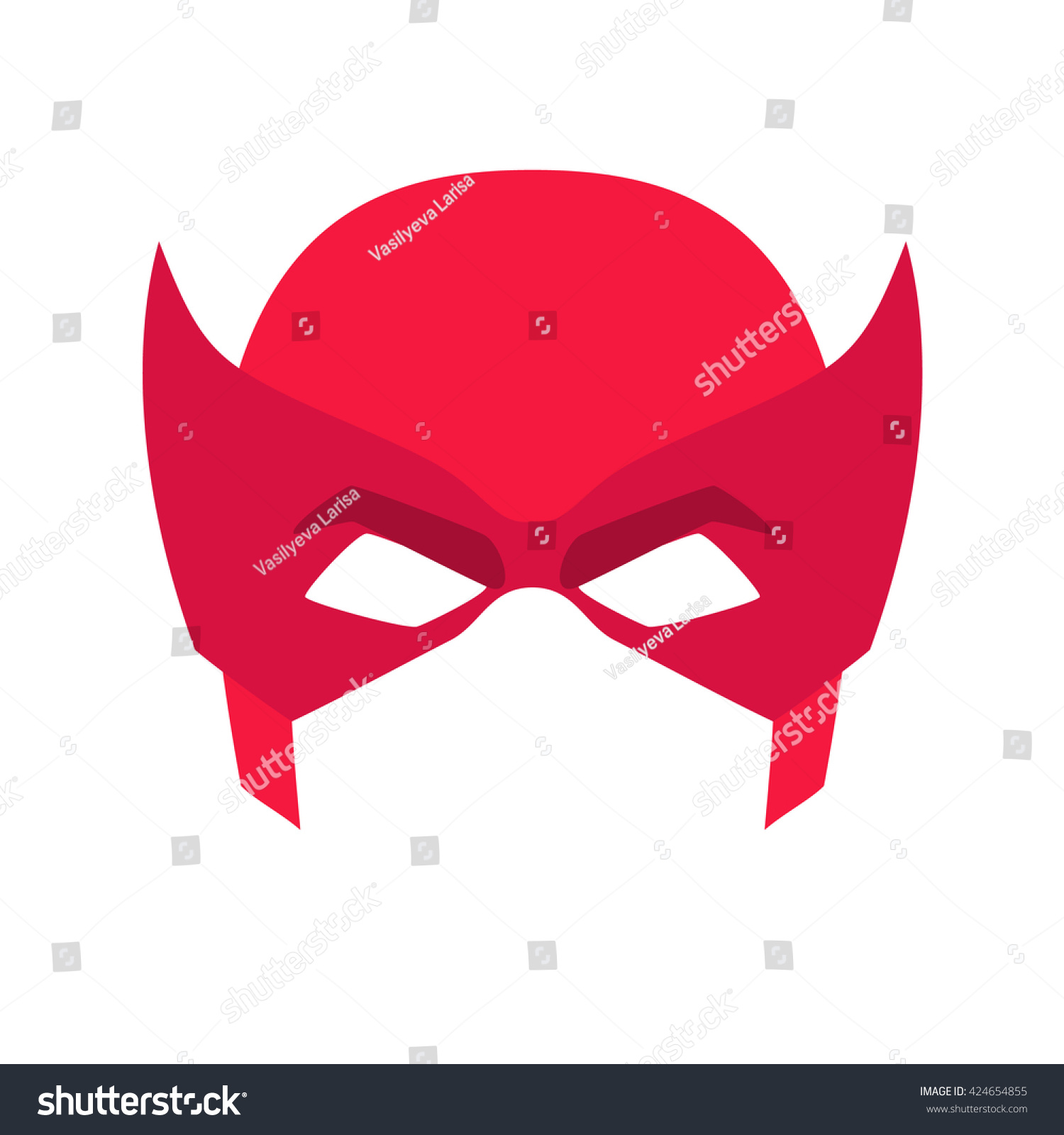 Super hero blue mask face character stock vector 424654855 super hero blue mask for face character in flat style heroic or savior vector illustration biocorpaavc Image collections
