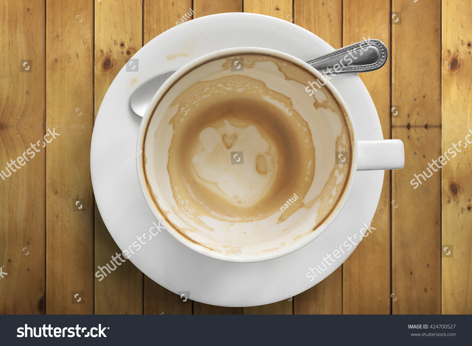 Empty Cup Top : Top view empty cup coffee on stock photo