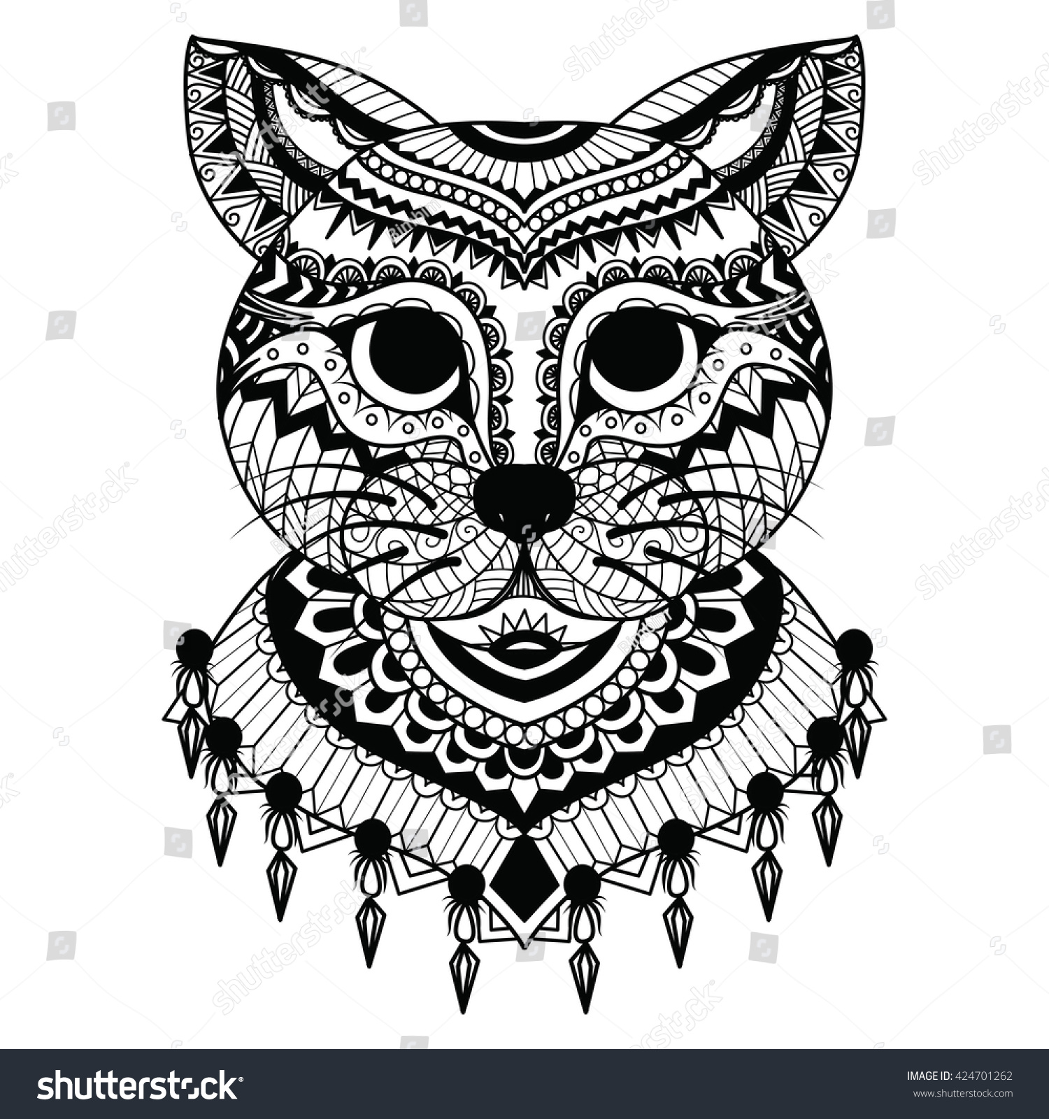 The coloring book clean - Clean Lines Doodle Art Of Cute Cat For Coloring Book For Adult Cards T