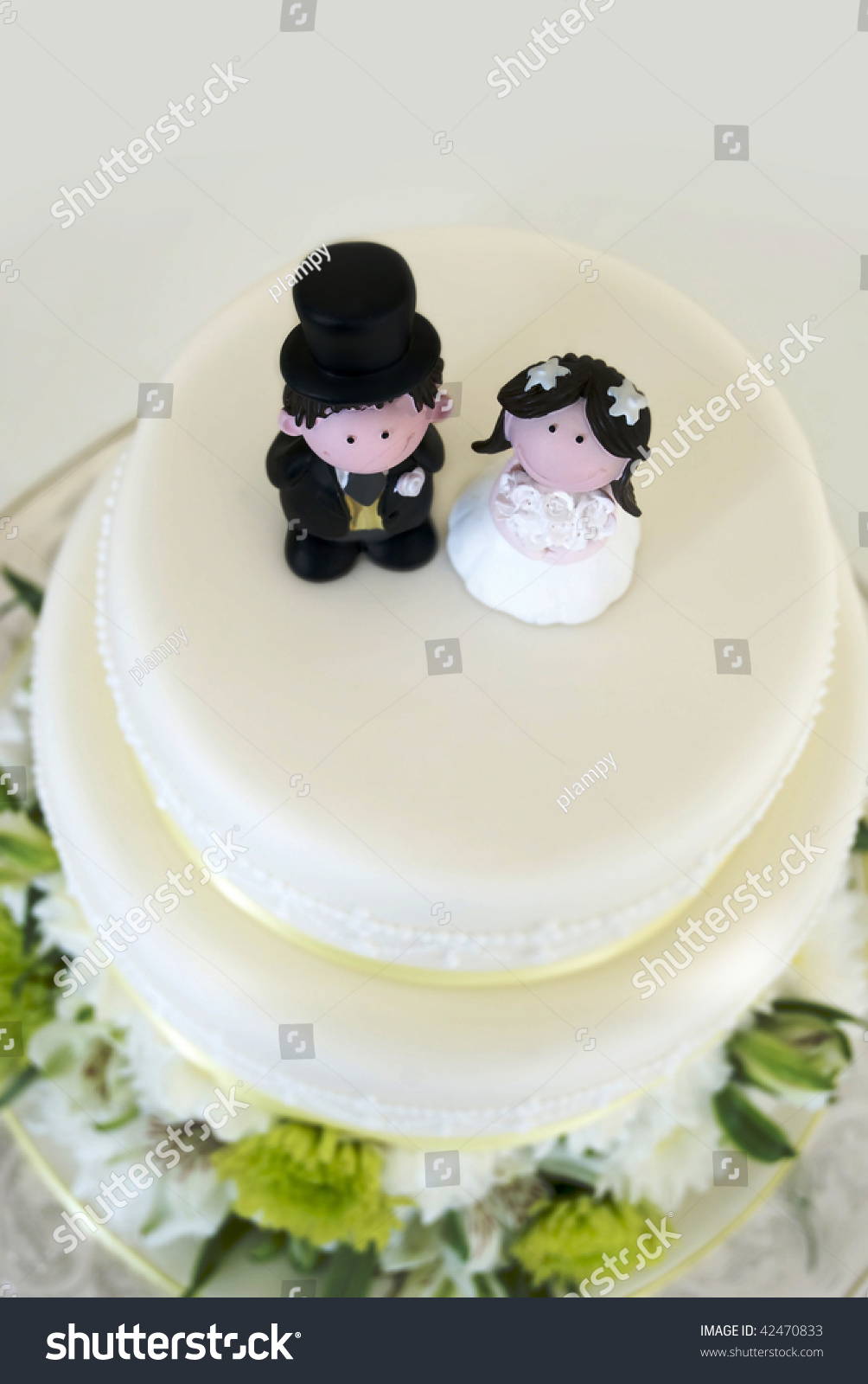 Bride Groom On Top Wedding Cake Stock Photo Edit Now 42470833