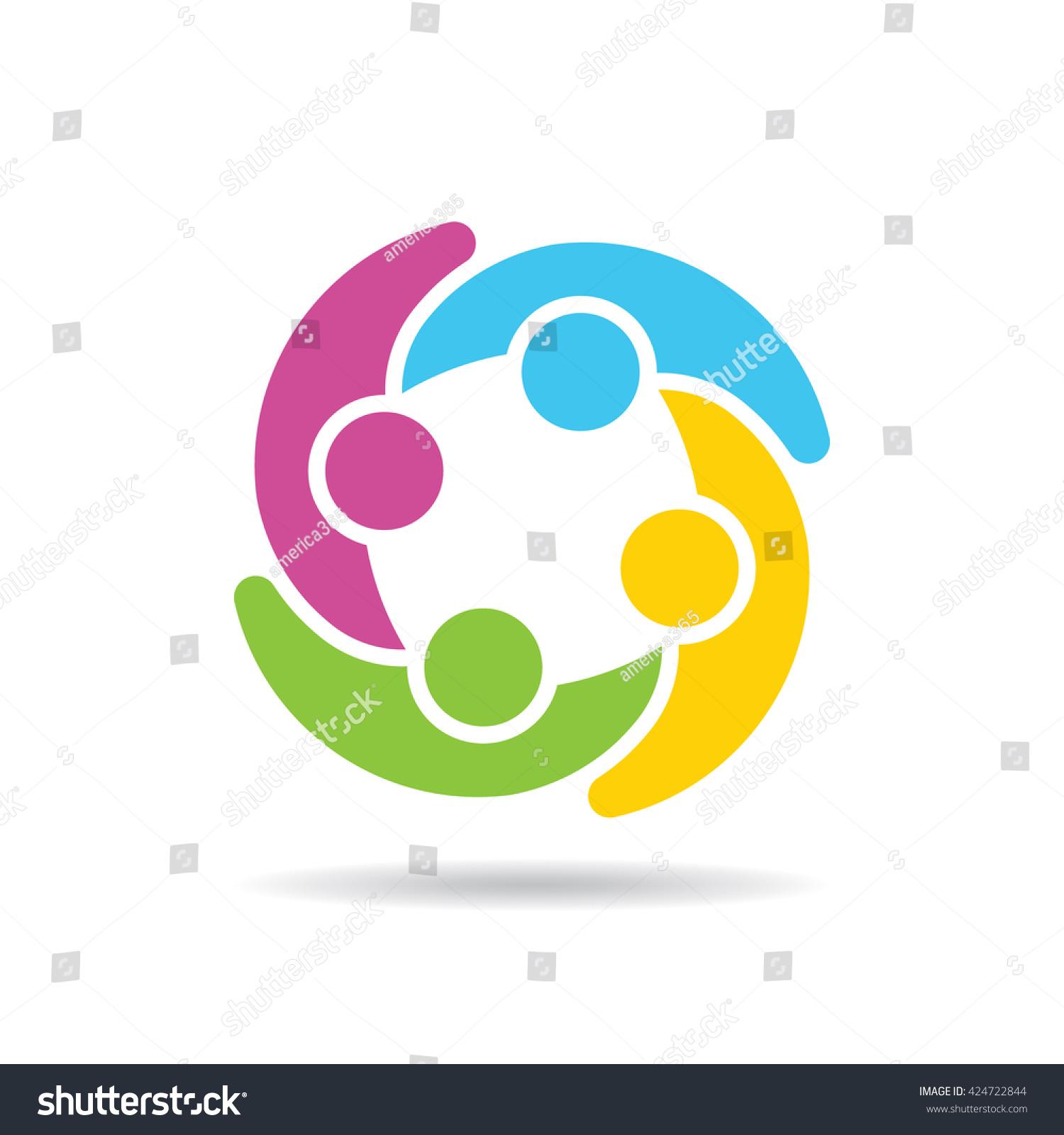 people group social network logo vector stock vector 424722844 rh shutterstock com logo using vector graphics logo using vector graphics