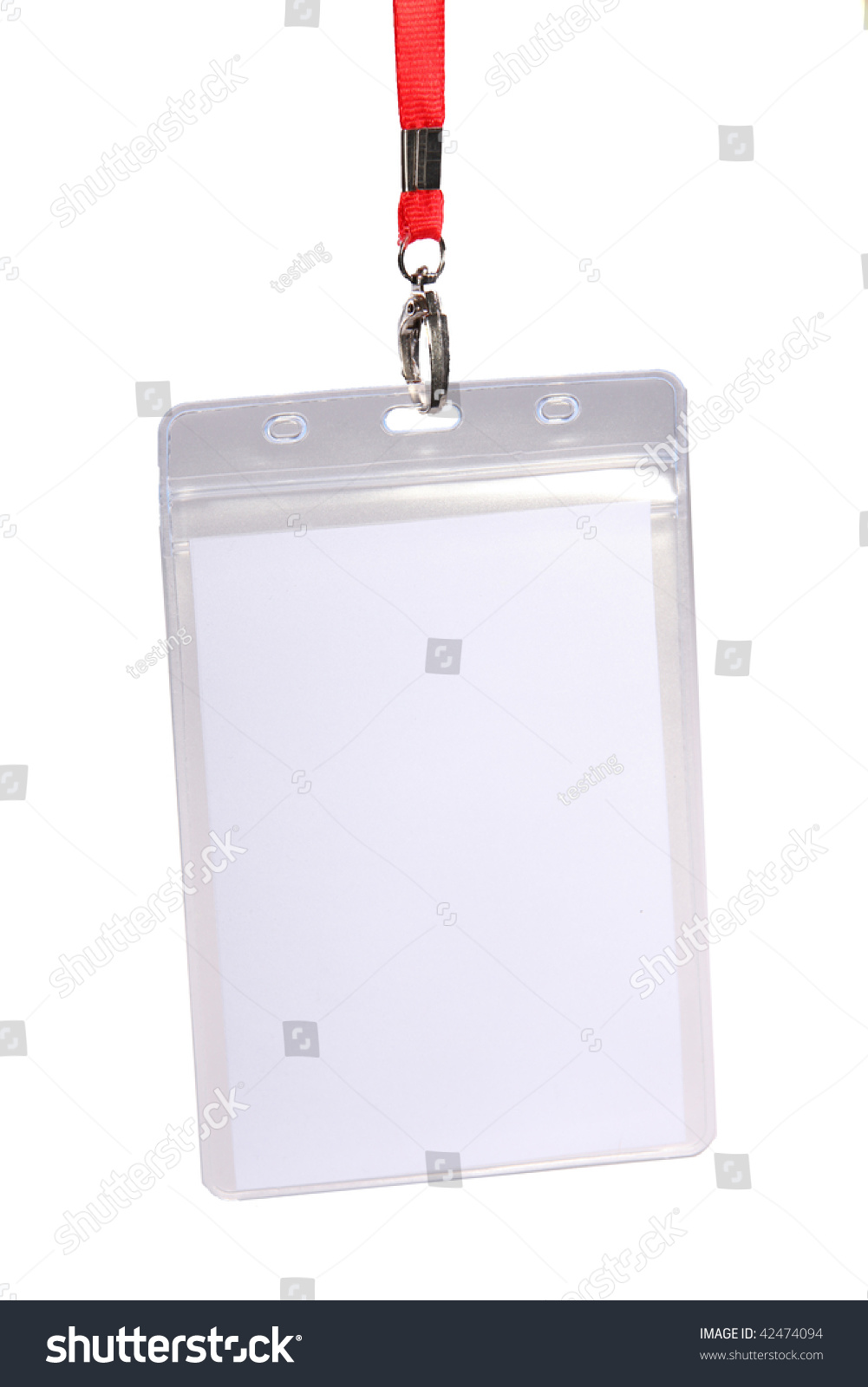 blank id card badge copy space stock photo edit now 42474094