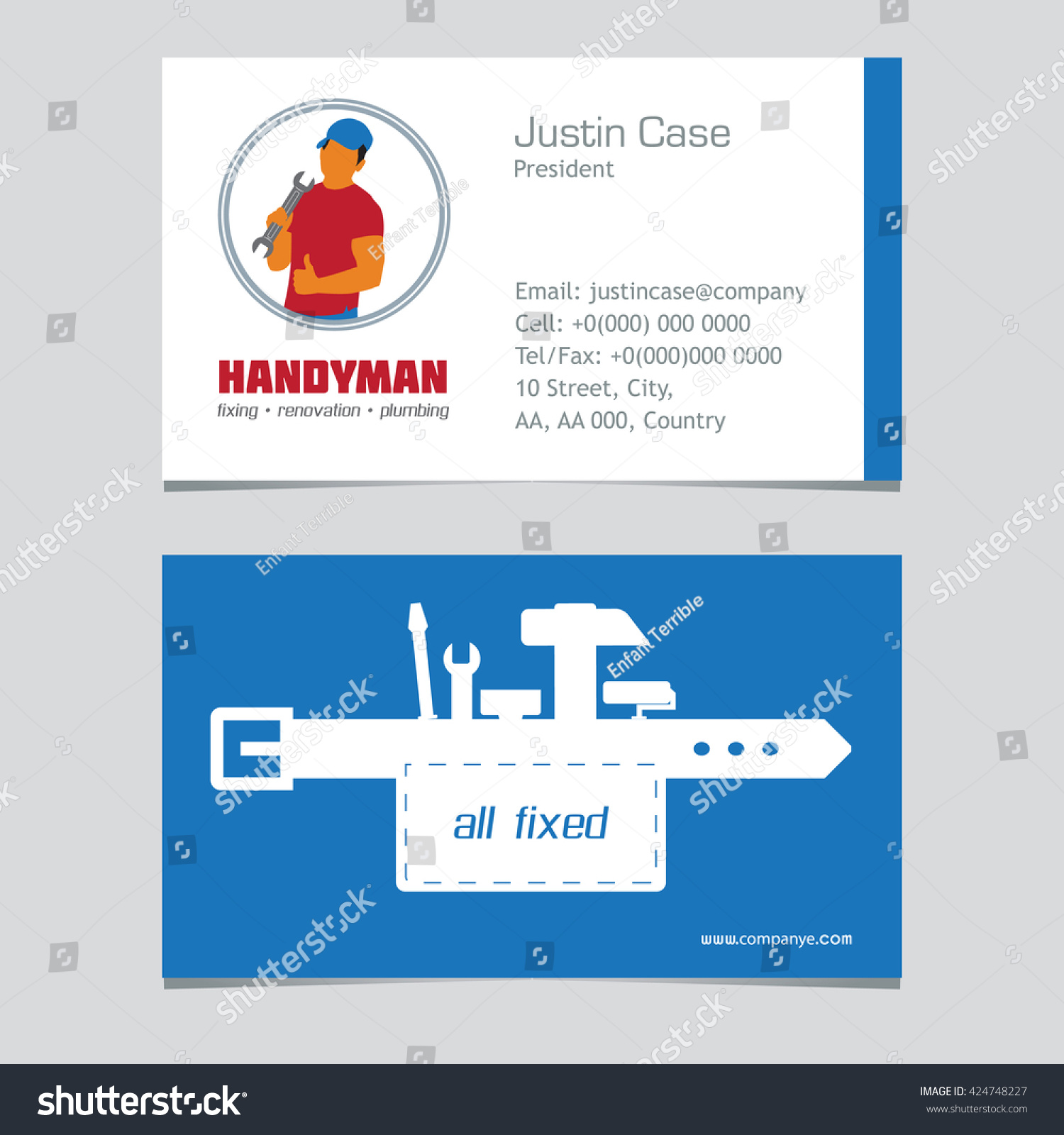 Lovely Stock Of Handyman Business Cards - Business Cards and ...