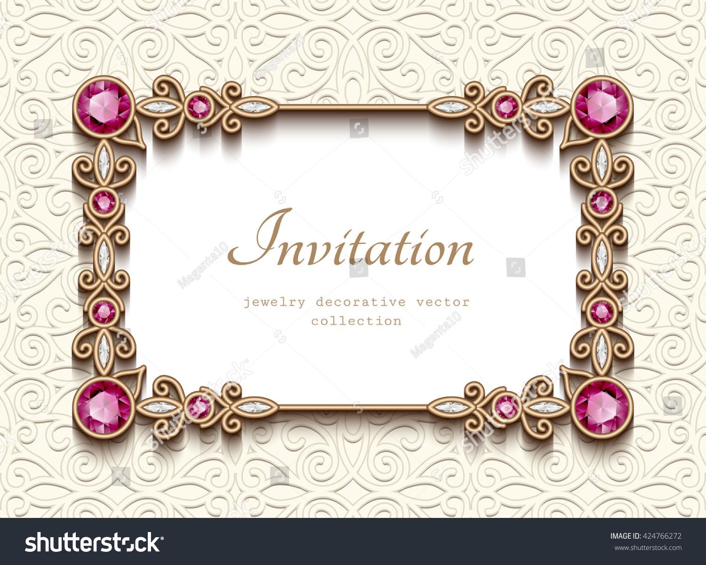 vintage card diamond jewelry decoration gold のベクター画像素材