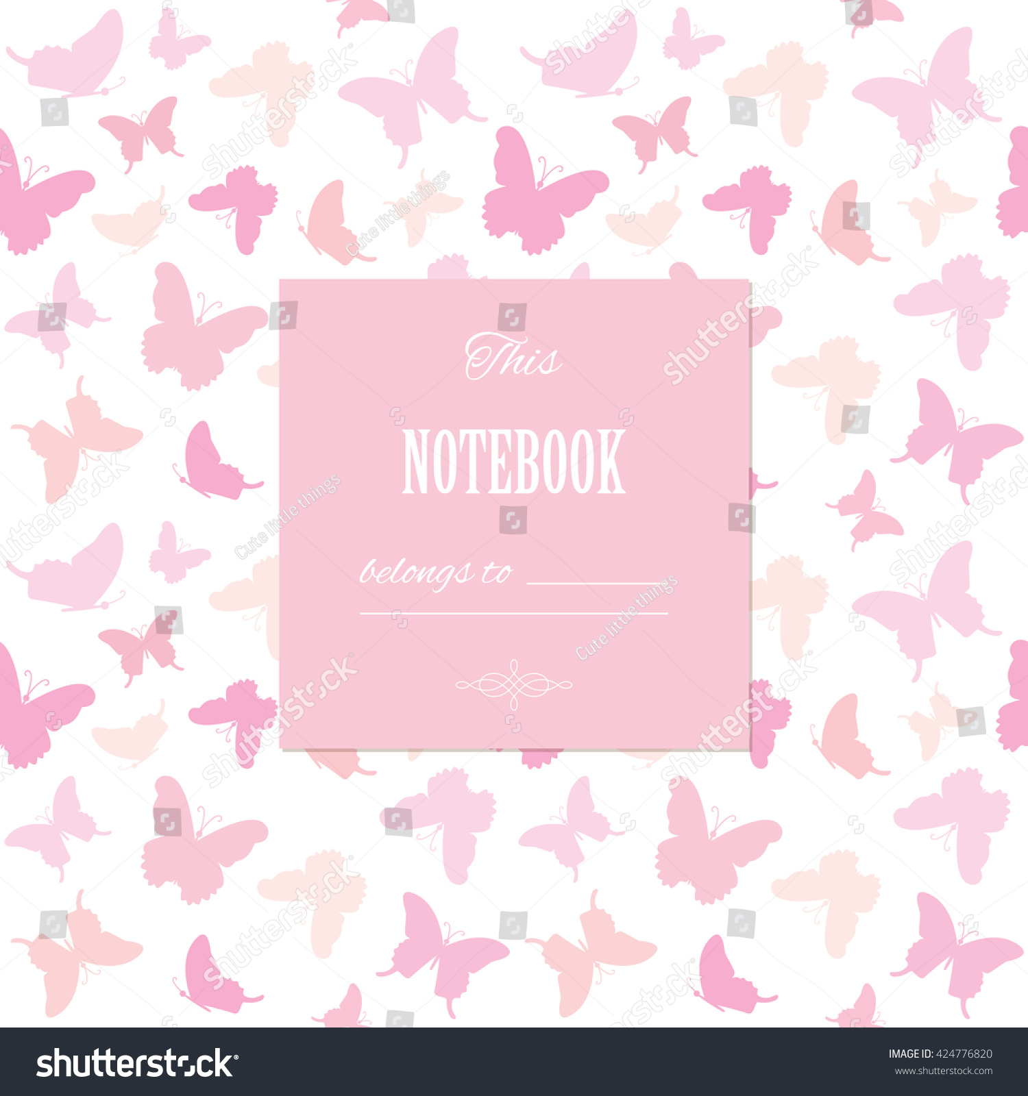 Cover page designs for school projects note book cover page design - Cute Template For Scrapbook Girly Design Birthday Wedding Bridal Shower Notebook Cover
