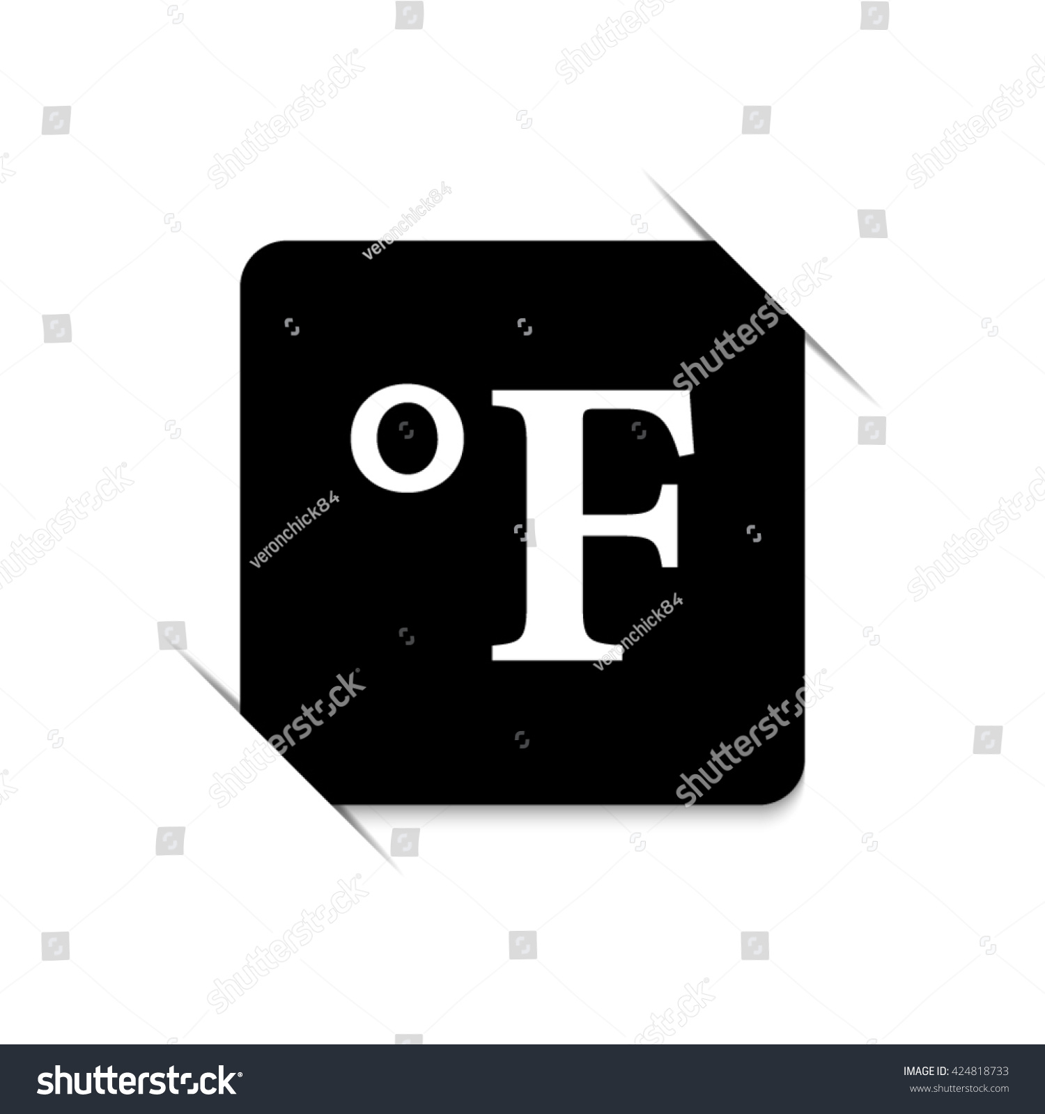 Degrees fahrenheit black vector icon stock vector 424818733 degrees fahrenheit black vector icon biocorpaavc Choice Image