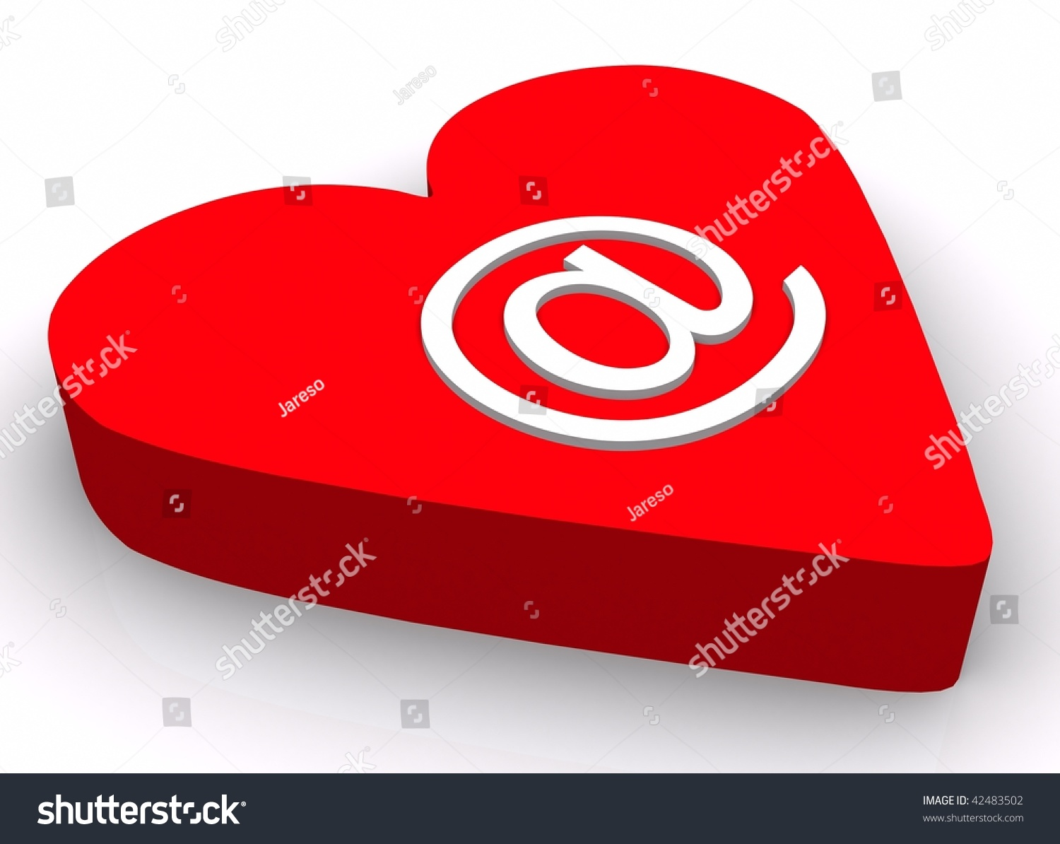 Love message concept red heart email stock illustration 42483502 love message concept red heart with email symbol biocorpaavc