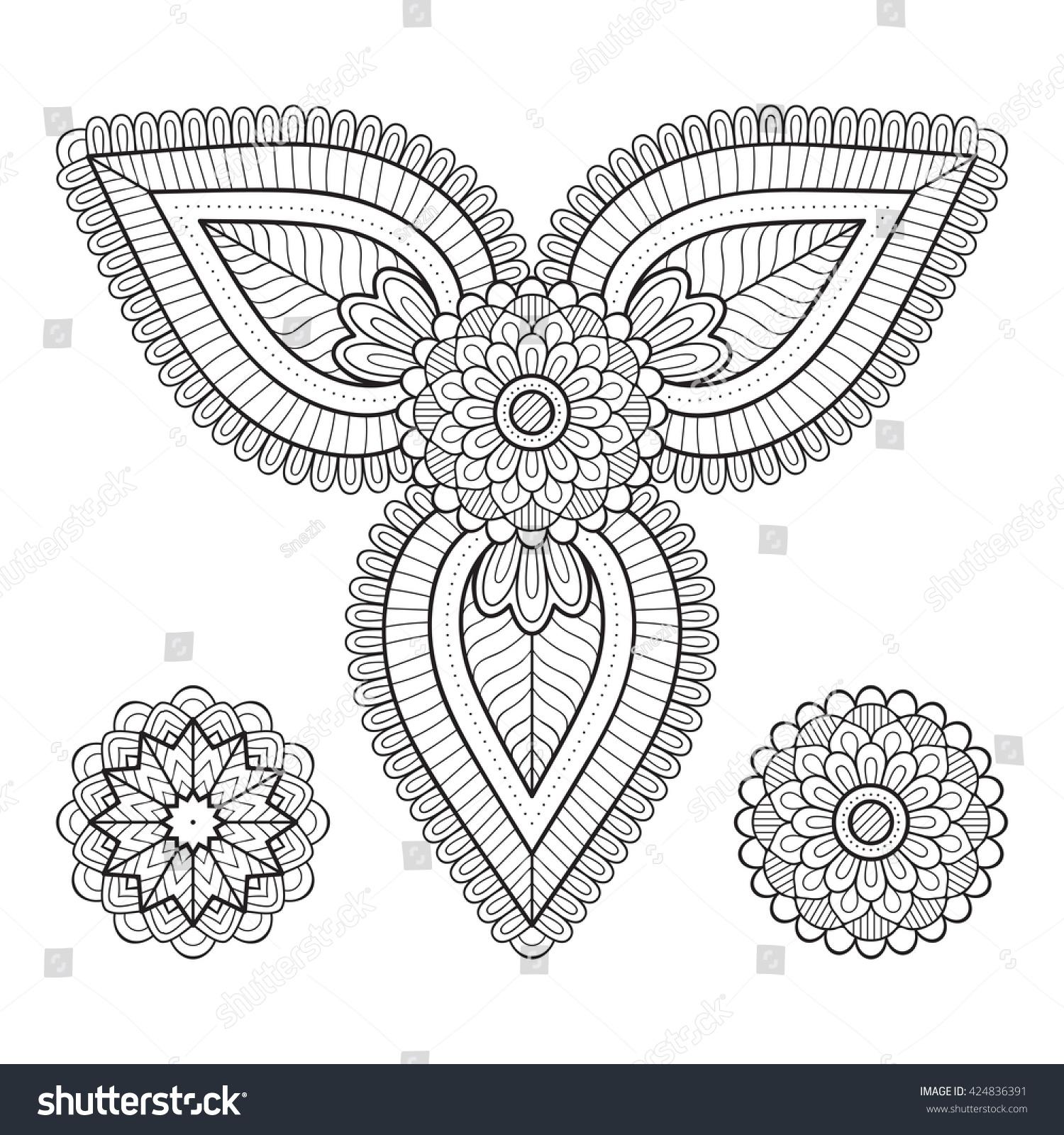 Flower Mandala Vintage Decorative Elements Oriental Stock Vector 424836391