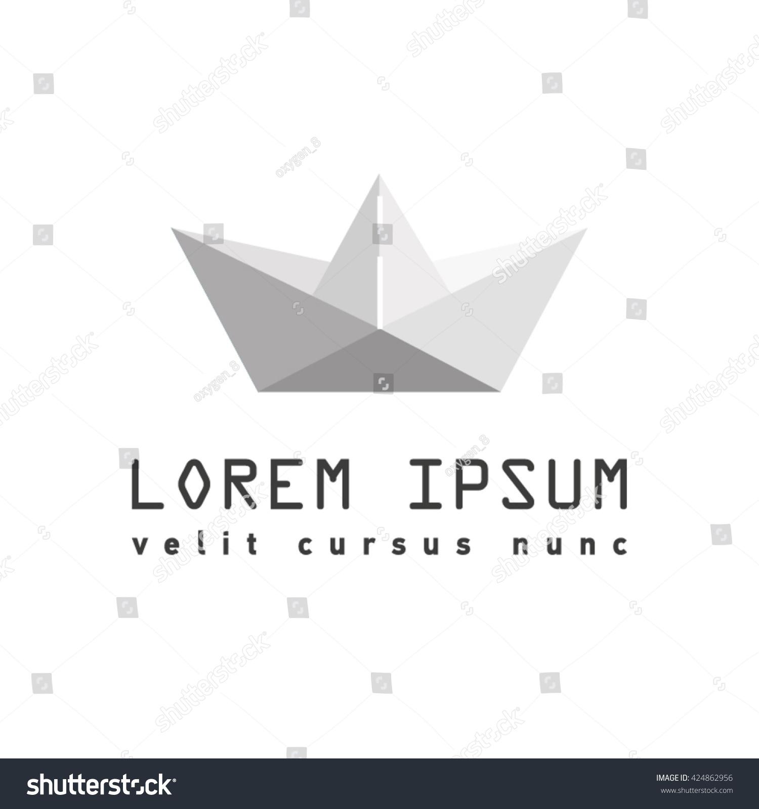 Origami paper ship origami symbol paper stock vector 424862956 origami paper ship origami symbol paper ship logo buycottarizona