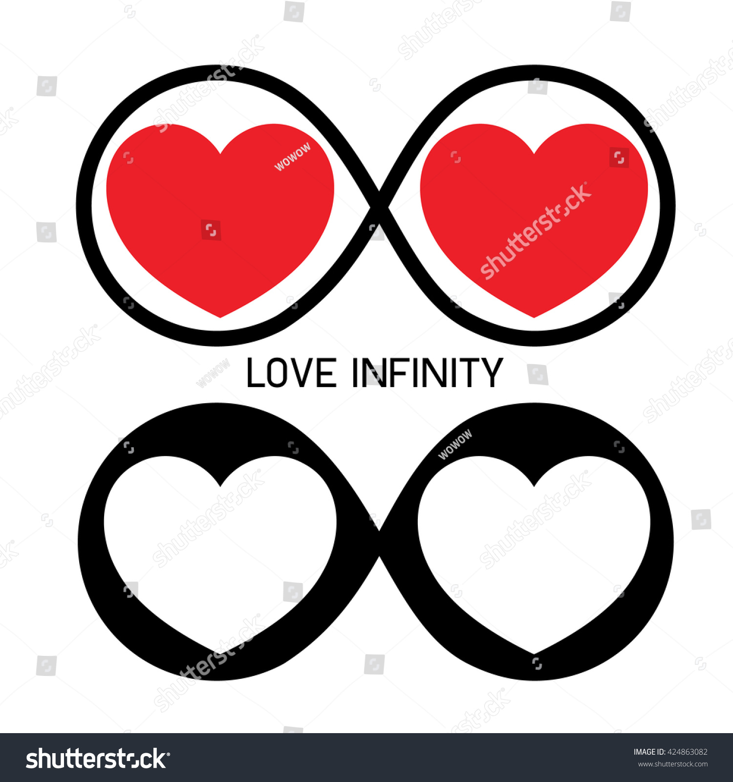 Infinity Love Forever Symbol Stock Vector Royalty Free 424863082