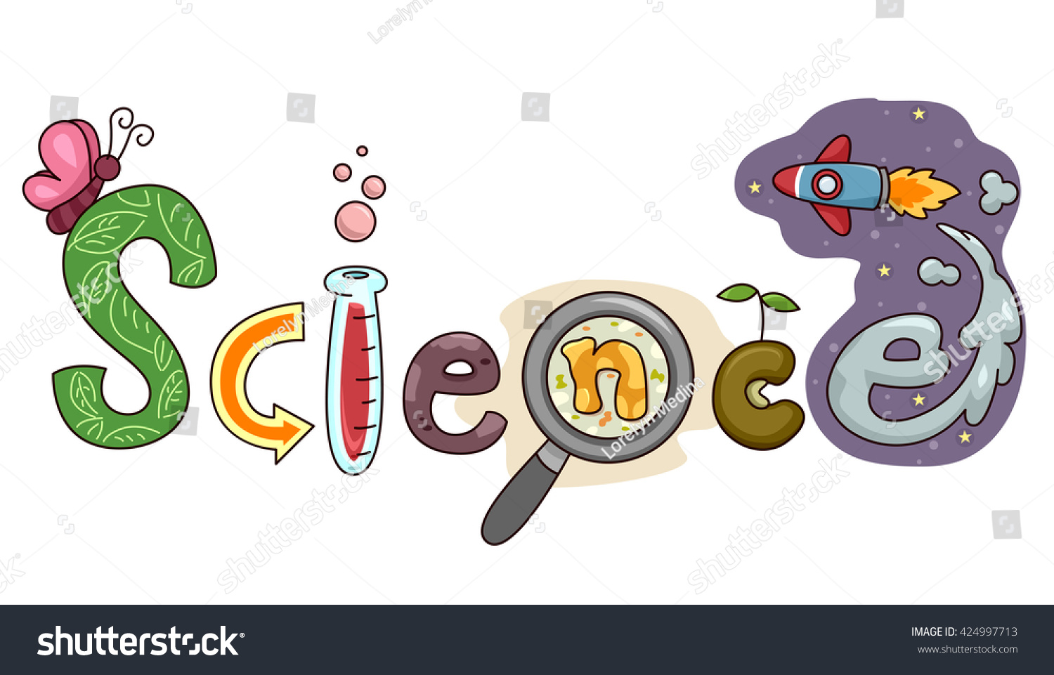 typography illustration featuring word science stock chemistry clip art chalk chemistry clip art black white