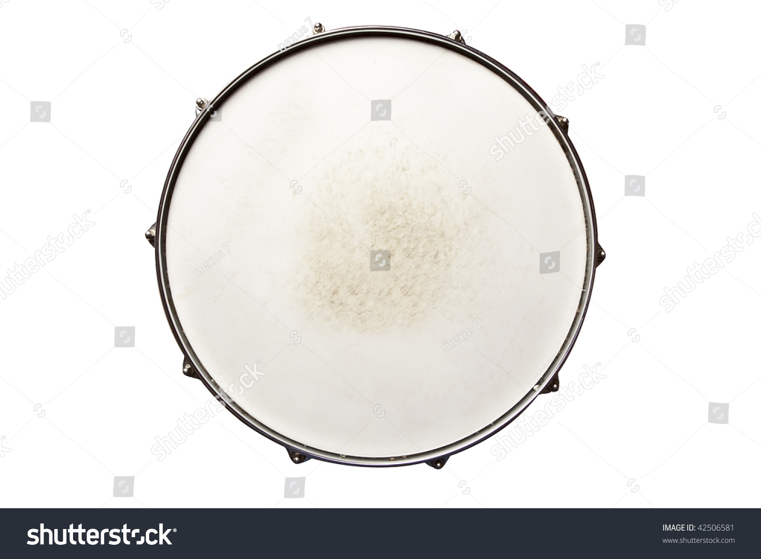 Snare Drum Top View Isolated On White Stock Photo 42506581 ...